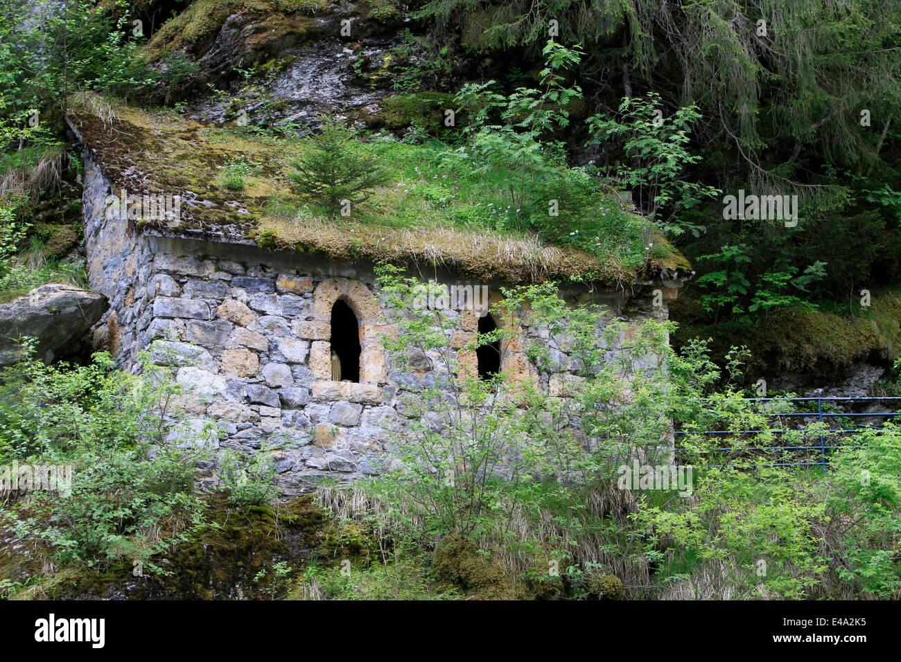 The Holy Chapel, Les Contamines-Montjoie, Haute-Savoie, France, Europe - Stock Image