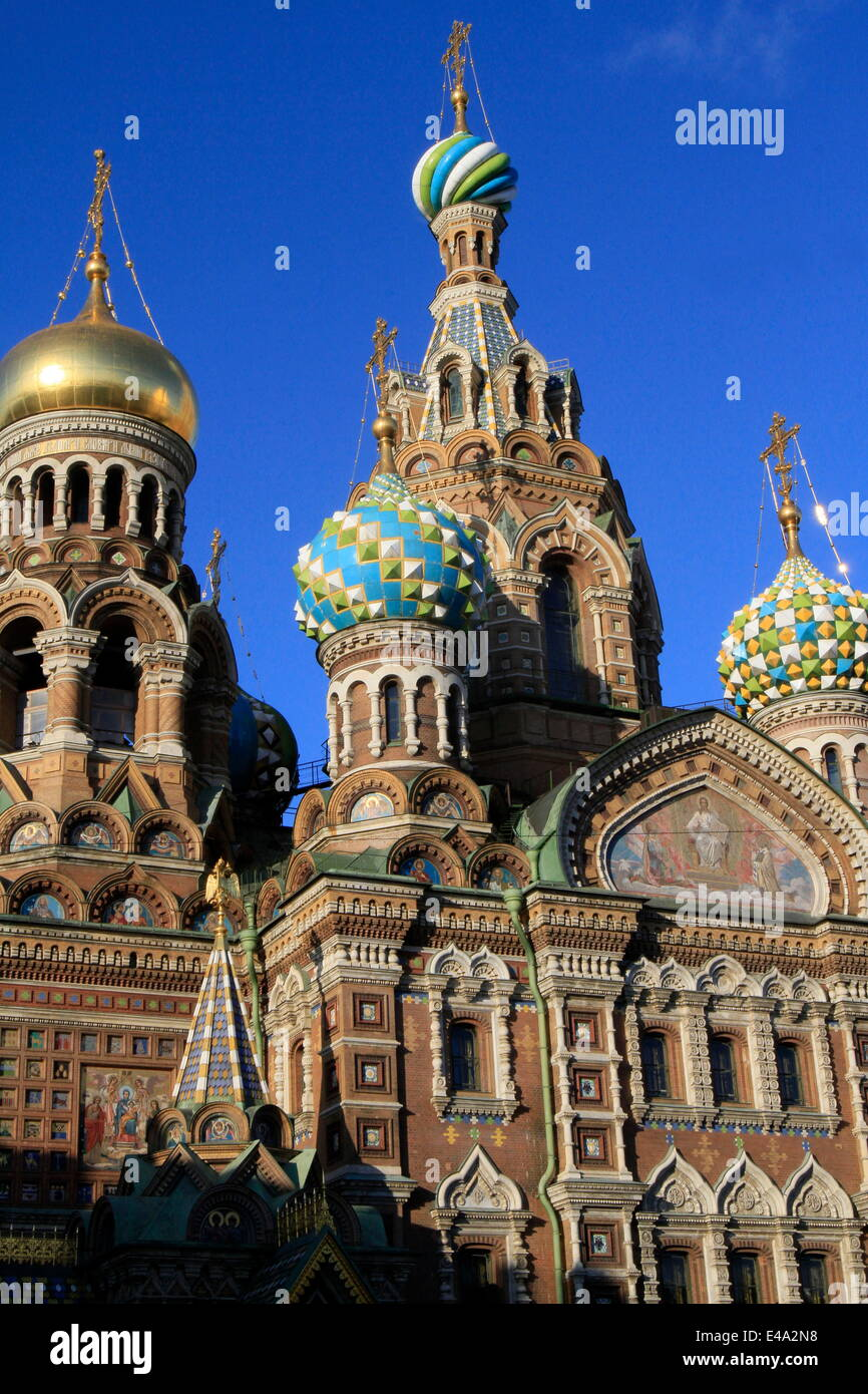 Church of our Saviour on Spilled Blood (Church of Resurrection), St. Petersburg, Russia, Europe - Stock Image