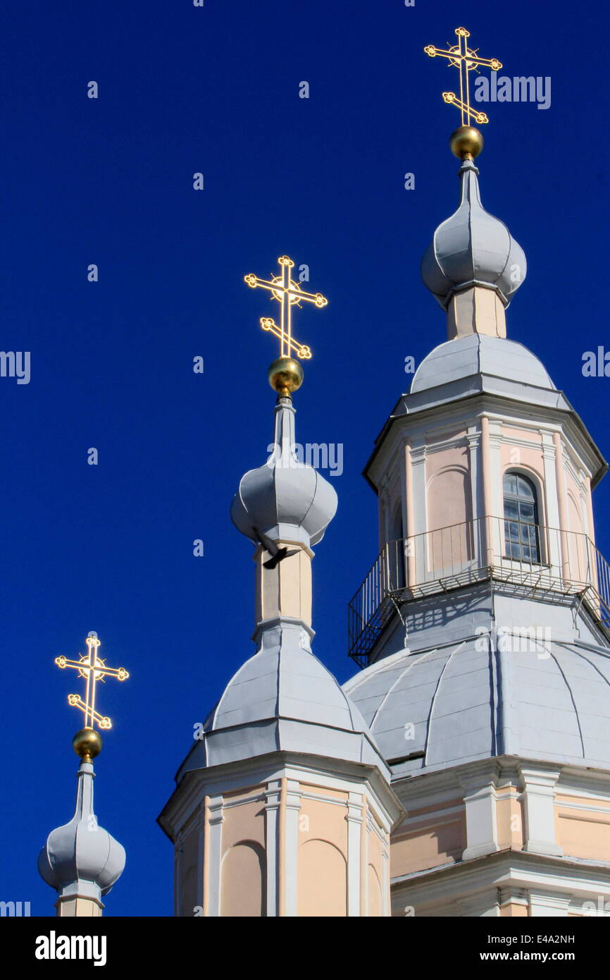 Russian Orthodox Church, St. Petersburg, Russia, Europe - Stock Image