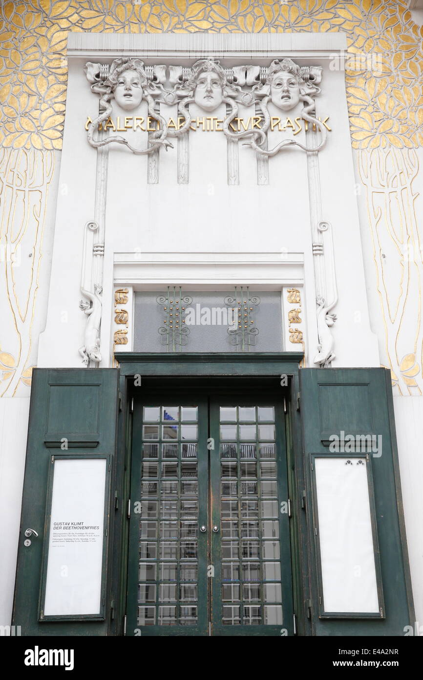 The Secession building designed by Joseph Maria Olbrich in 1897, Vienna, Austria, Europe - Stock Image