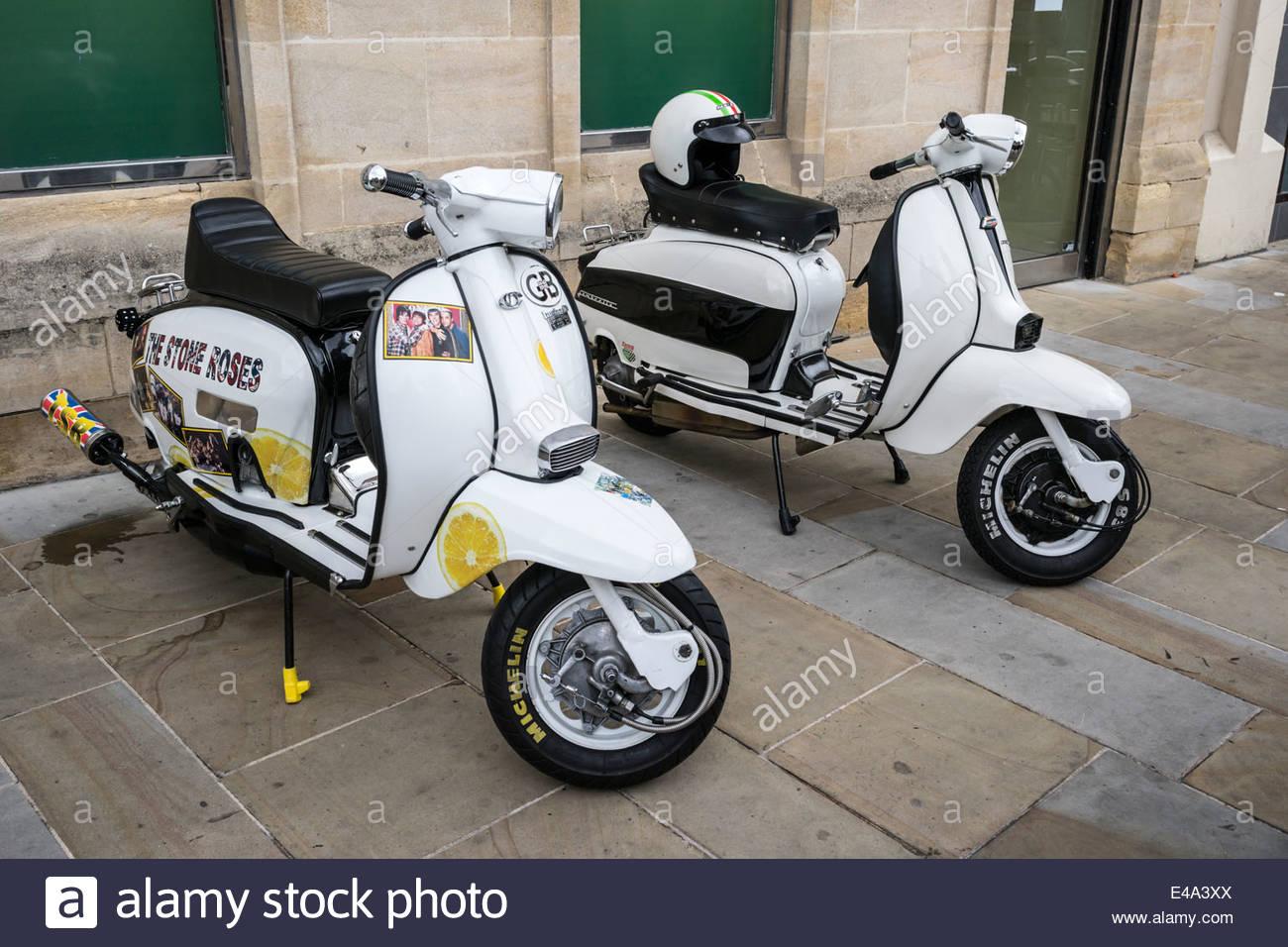 Lambretta Scooters - Stock Image
