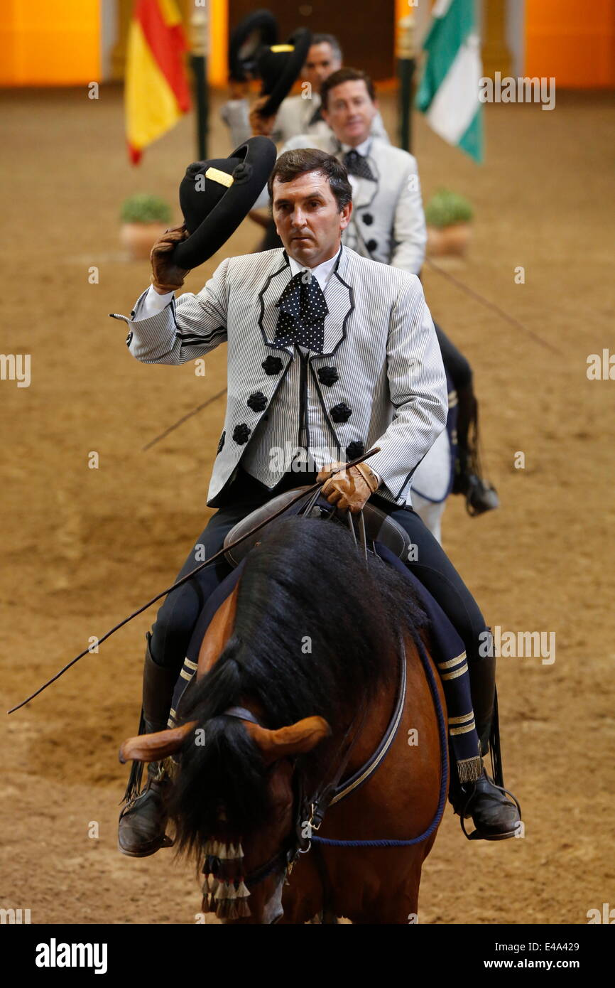 The Royal Andalusian School of Equestrian Art show, Jerez, Andalucia, Spain, Europe - Stock Image