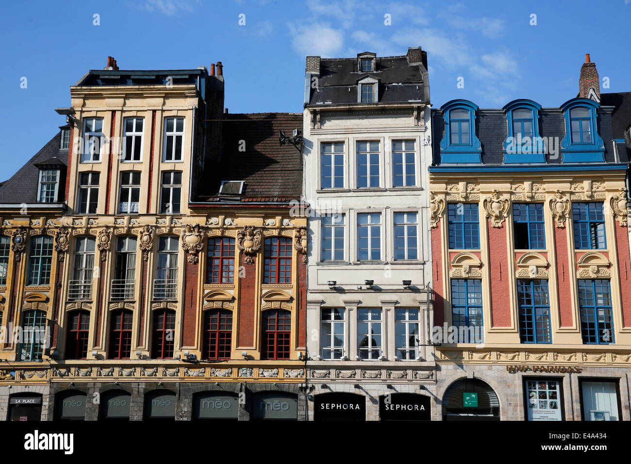 Grand Place, Lille, Nord, France, Europe - Stock Image