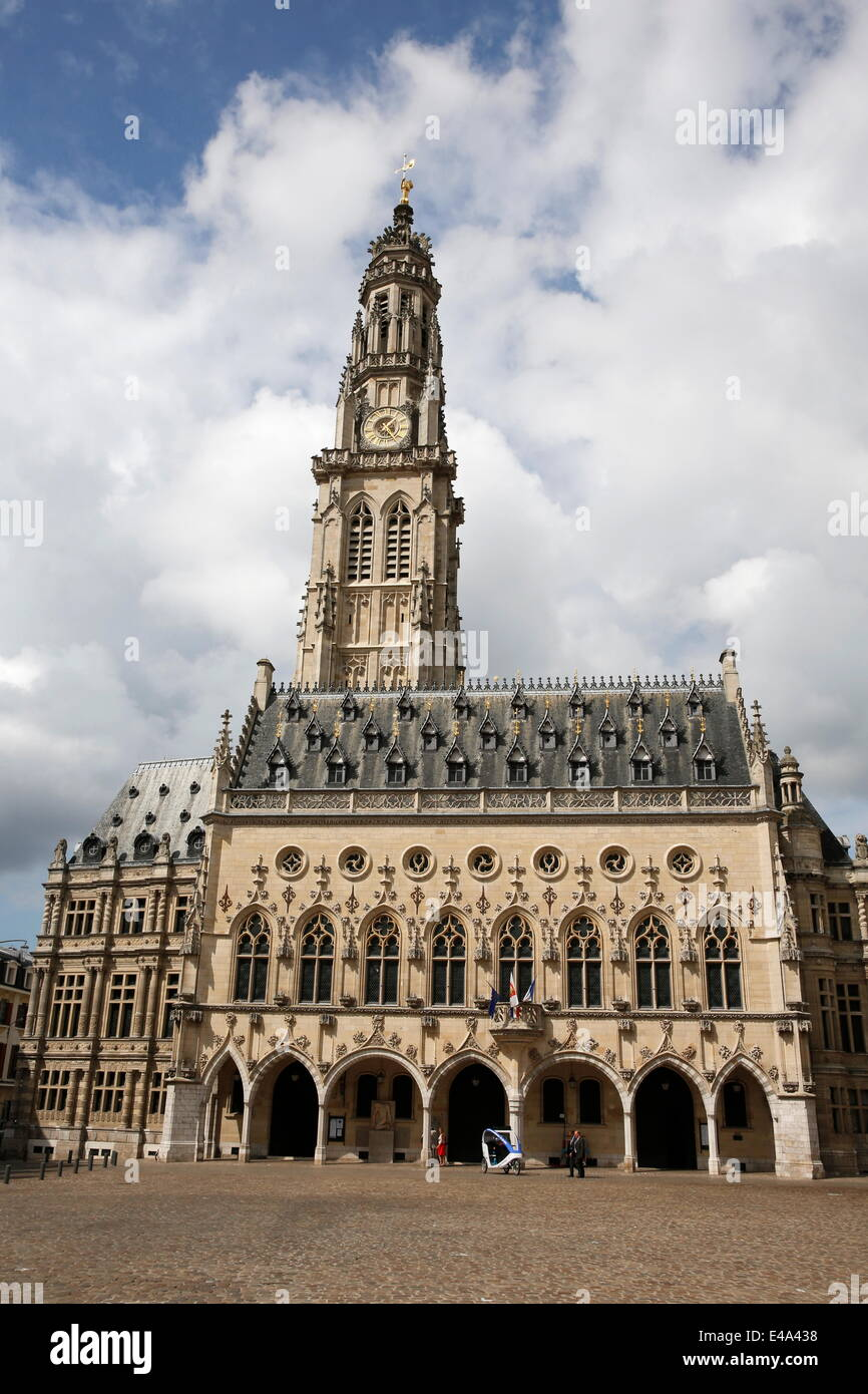 Town Hall, Arras, Pas-de-Calais, France, Europe - Stock Image