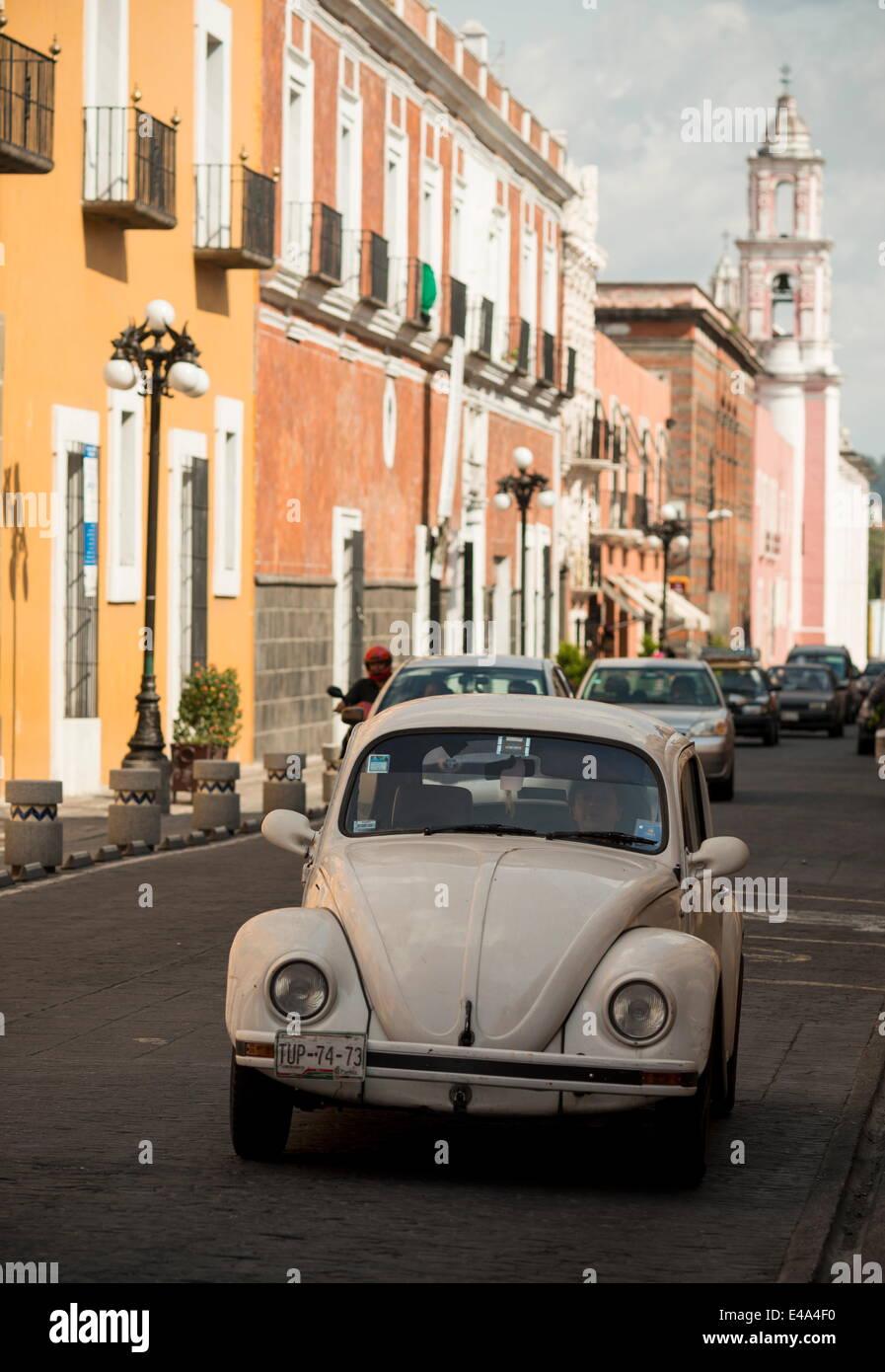 Street scene, Puebla City, Puebla, Mexico, North America - Stock Image