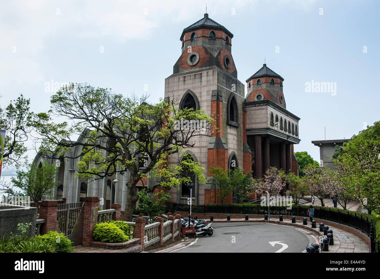 Oxford College in the Alethia University, Danshui, suburb of Taipeh, Taiwan, Asia - Stock Image