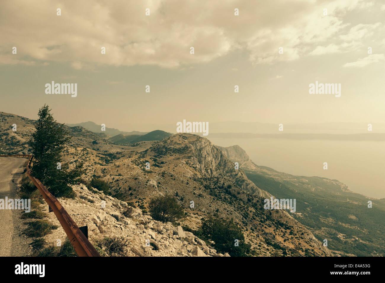 Croatia, Dalmatia, Biokovo, View from Sveti Jure - Stock Image