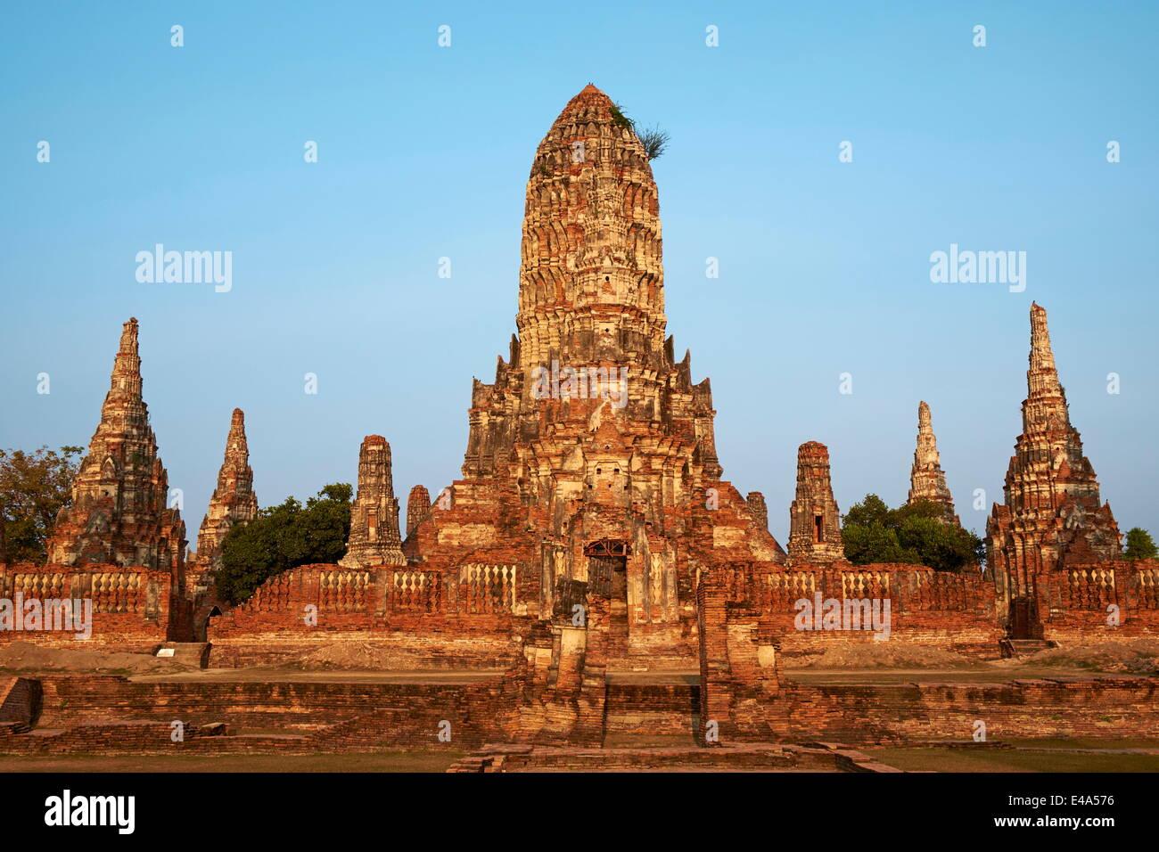 Wat Chai Wattanaram, Ayutthaya Historical Park, UNESCO World Heritage Site, Ayutthaya, Thailand, Southeast Asia, - Stock Image