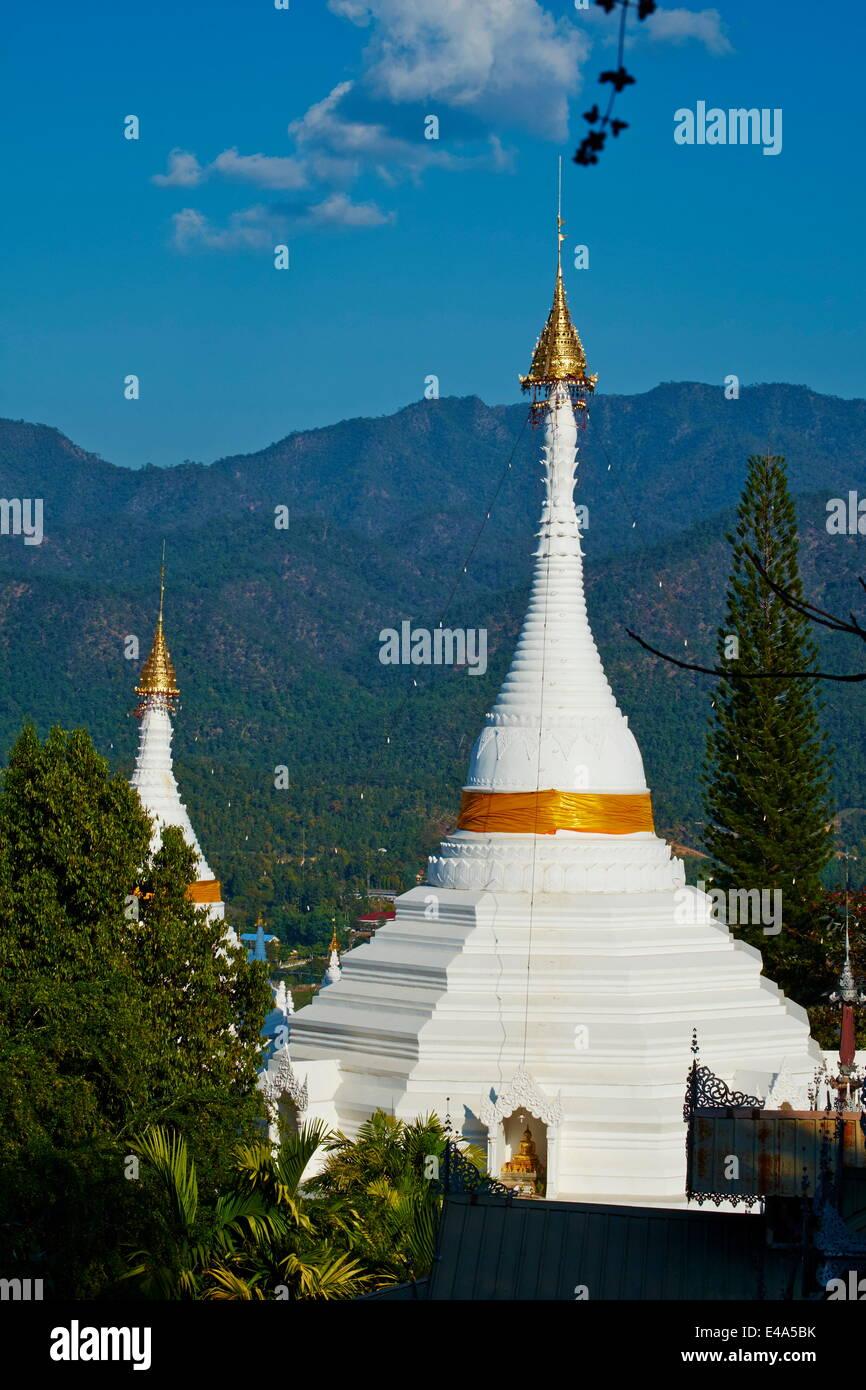 Wat Phra That Doi Kong Mu, Mae Hong Son, Thailand, Southeast Asia, Asia - Stock Image