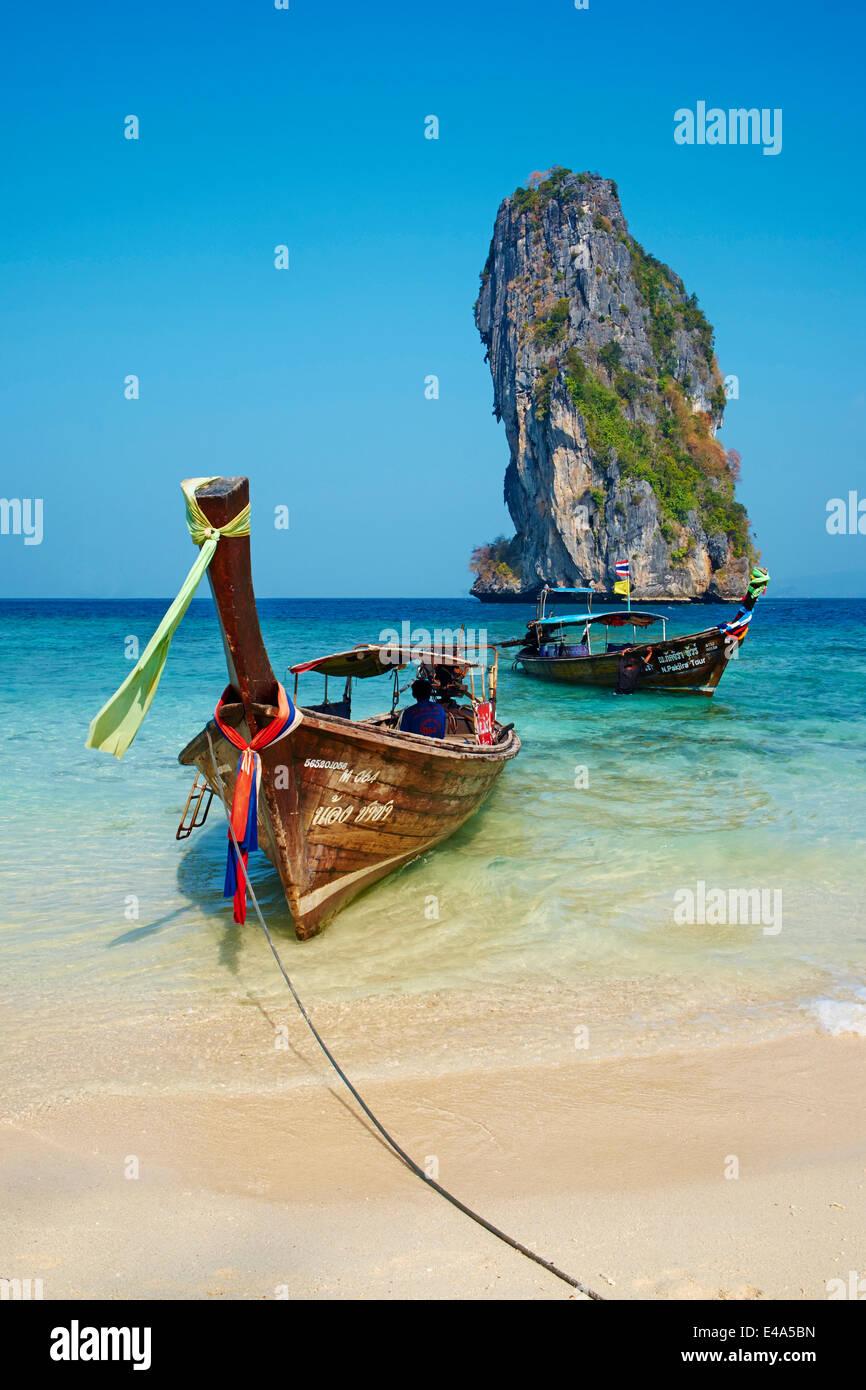 Ao Phra Nang Bay, Ko Poda Island, Krabi Province, Thailand, Southeast Asia, Asia - Stock Image