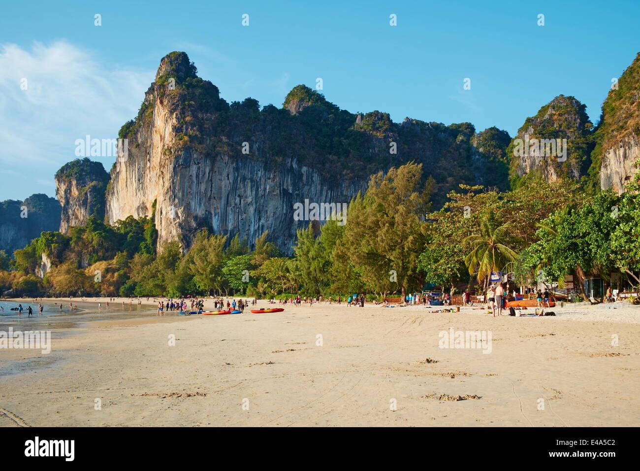 Ao Phra Nang Bay, Railay Beach, Tonsay Beach, Krabi Province, Thailand, Southeast Asia, Asia - Stock Image