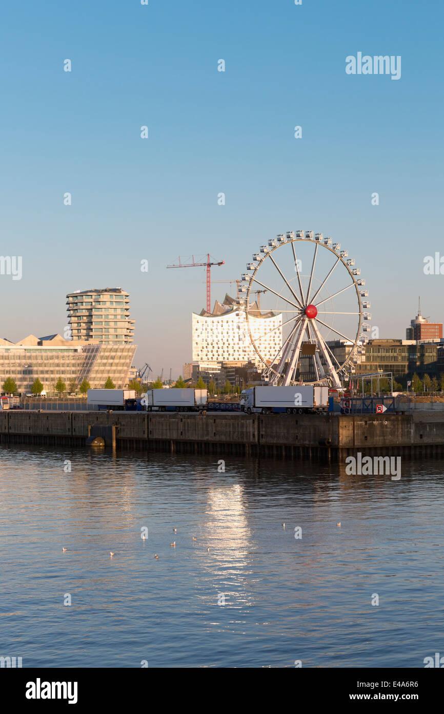 Germany, Hamburg, ferris wheel in Hafencity - Stock Image