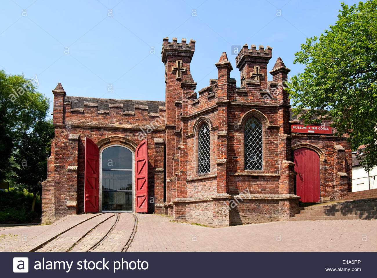 The Museum of the Gorge in Ironbridge, England, provides an introduction to the valley and its attractions. - Stock Image