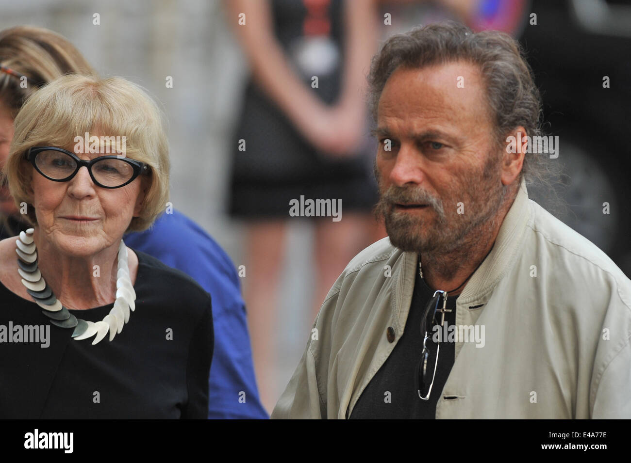 Italian actor Franco Nero is seen with artistical advisor Eva Zaoralova during the 49th Karlovy Vary International - Stock Image