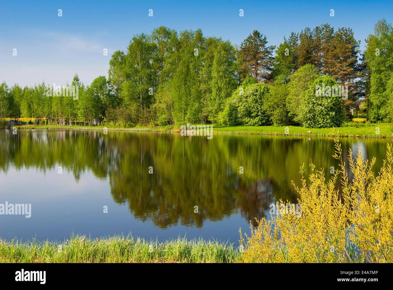 Emajogi River, Tartu, Estonia, Baltic States, Europe Stock Photo