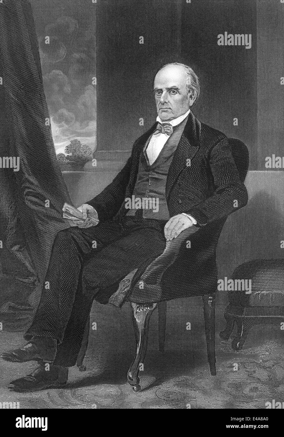 Daniel Webster, 1782 - 1852, a senator from Massachusetts Stock Photo