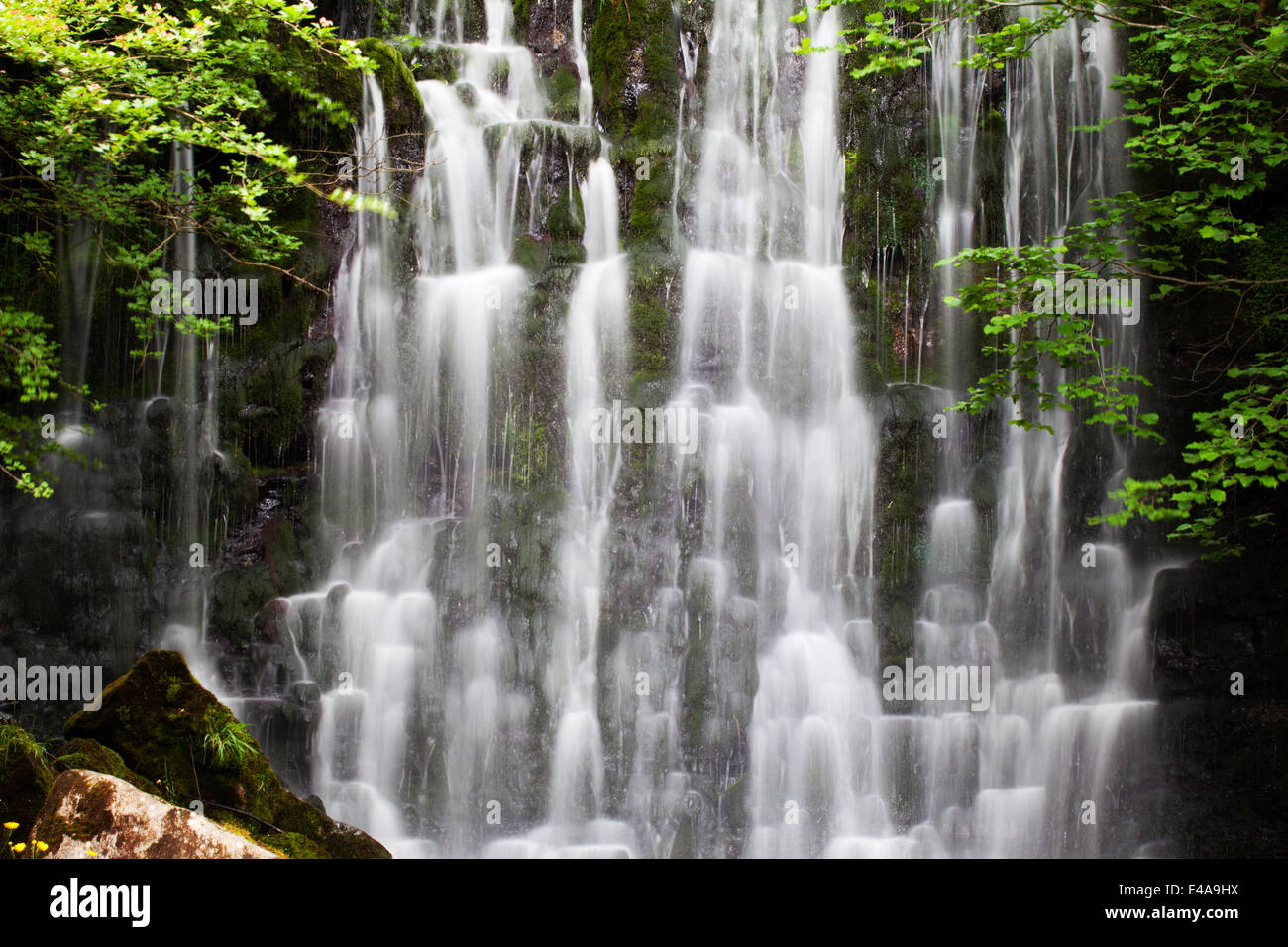 Scale Haw Force near Hebden in Wharfedale Yorkshire Dales England - Stock Image