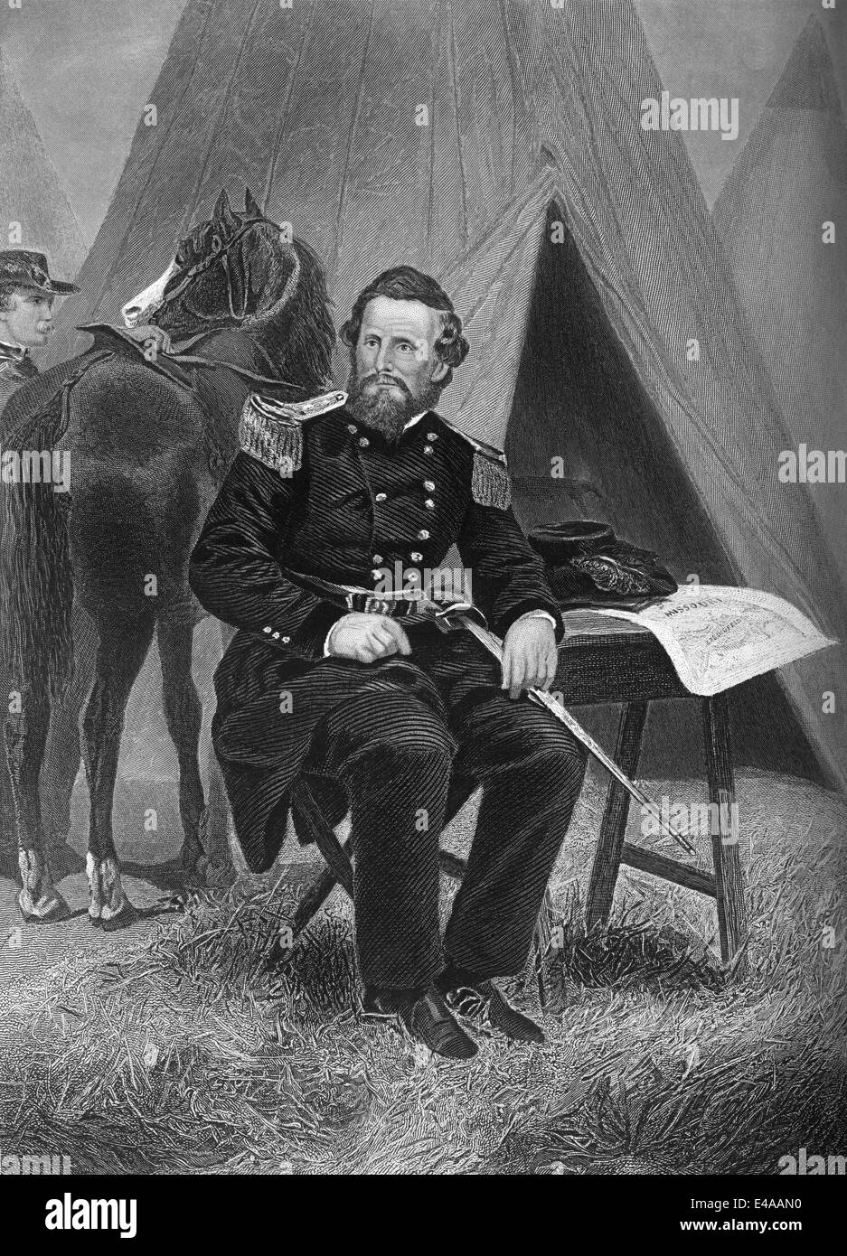 Nathaniel Lyon, 1818 - 1861, Union general in the American Civil War, - Stock Image