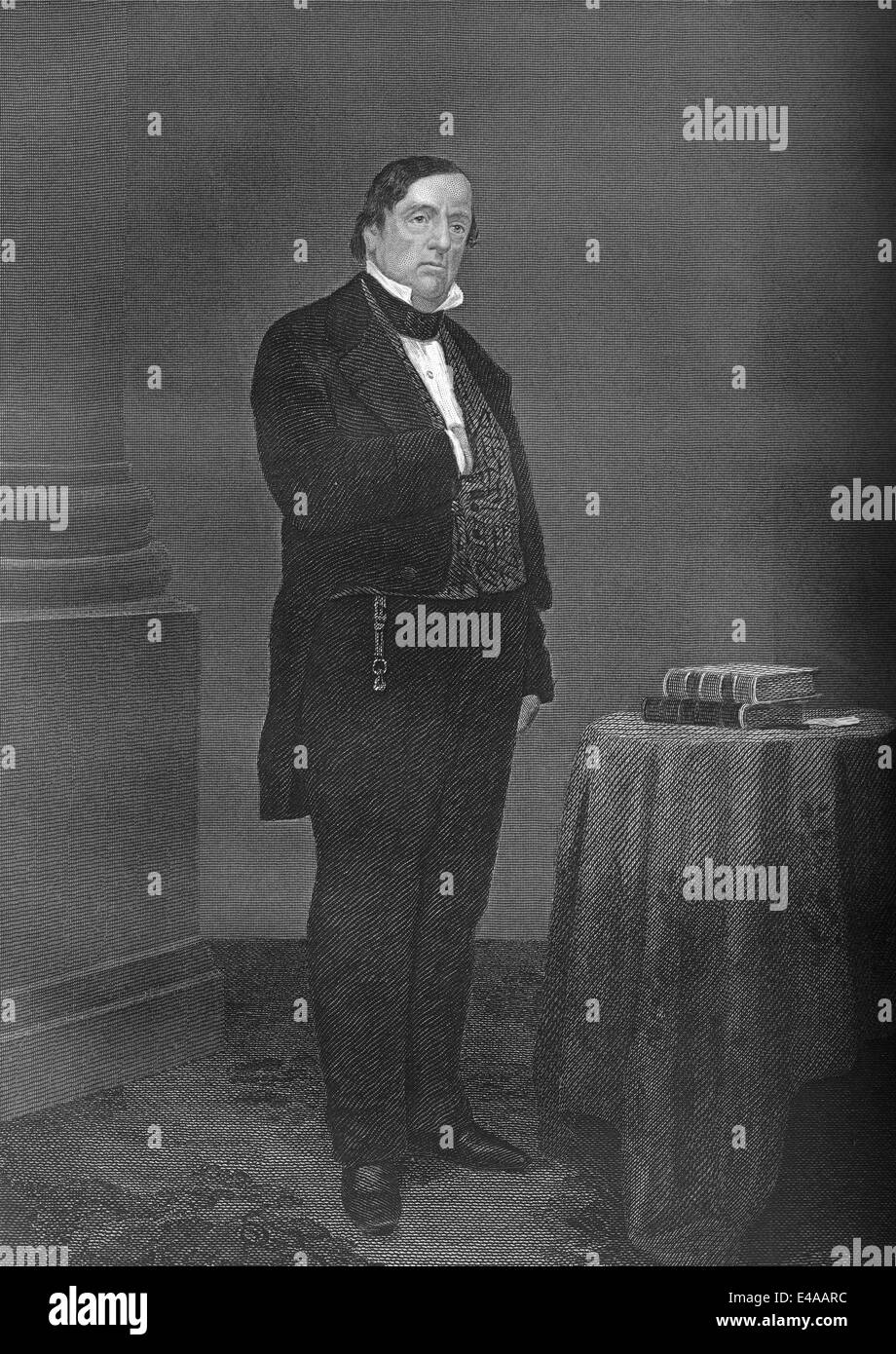 Lewis Cass, 1782 - 1866, an American military officer and politician, Stock Photo