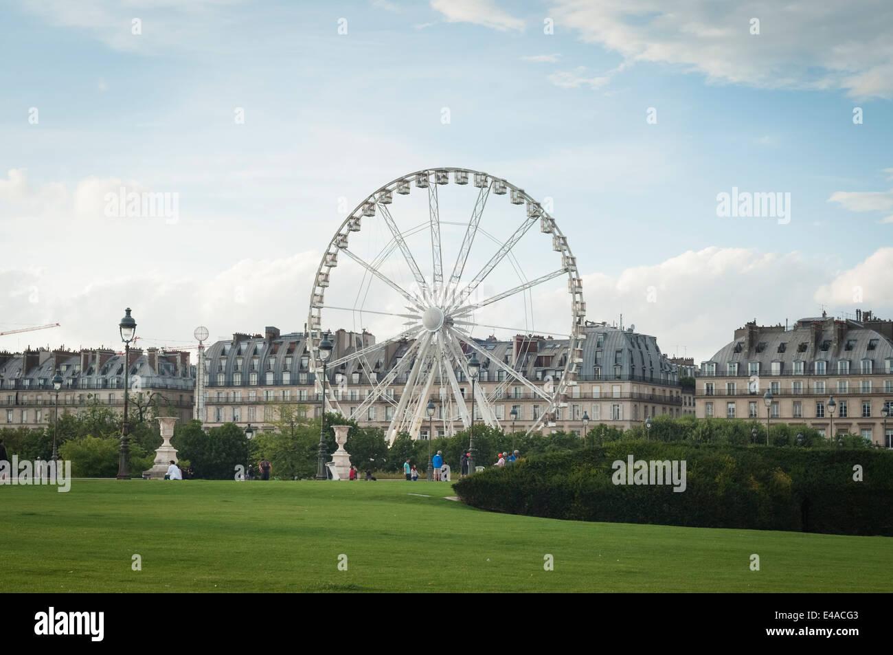 Tuileries garden, Paris, France. - Stock Image