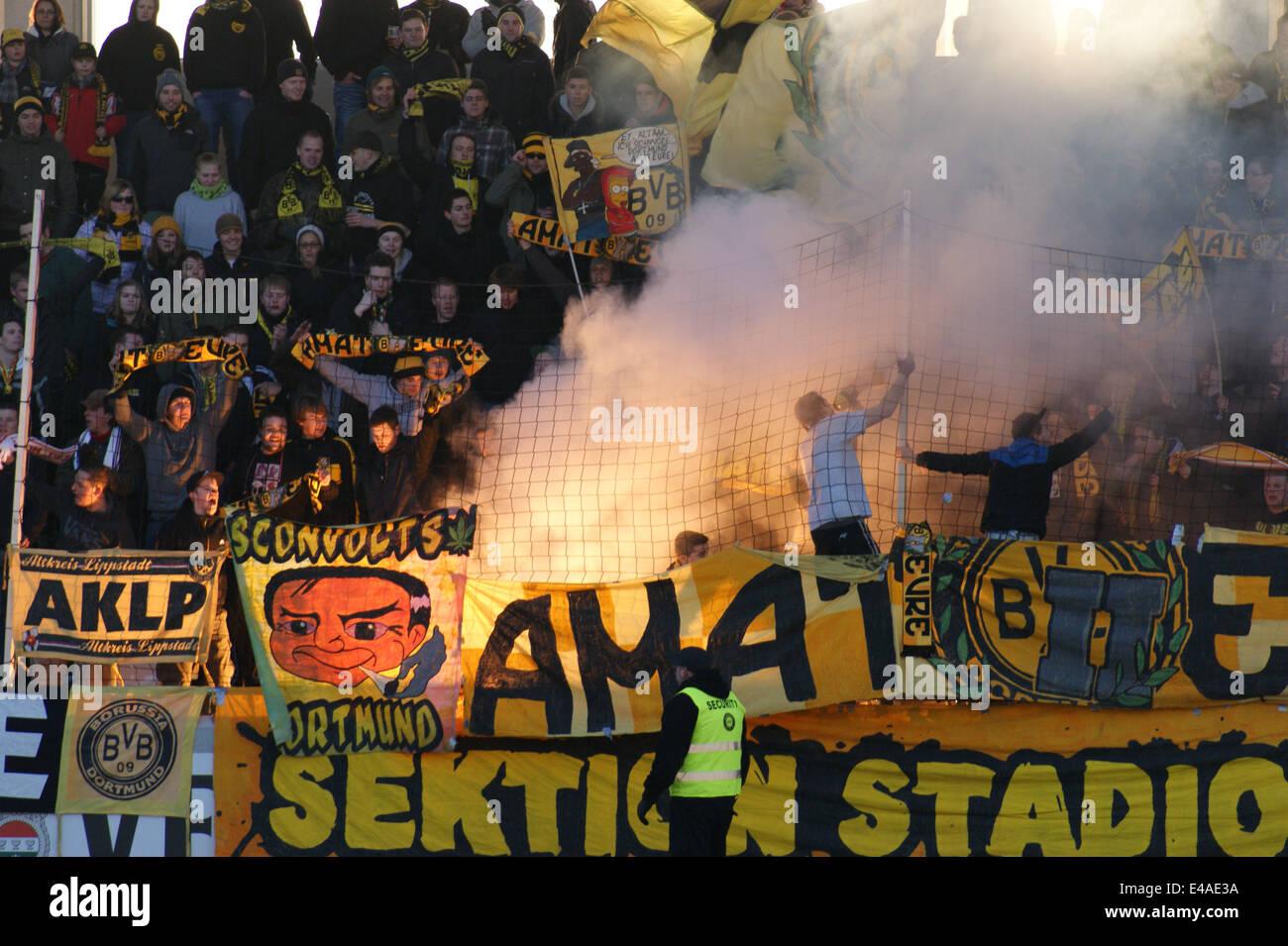 Test Match SC Verl 2 Borussia Dortmund II 2 Tonnies Arena Rheda-Wiedenbruck  Saturday January 12th 2013 - Stock Image