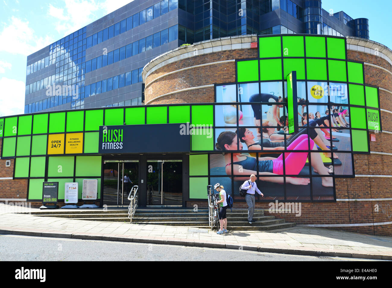 Rush Fitness Health Club, High Street, Uxbridge, London Borough of Hillingdon, Greater London, England, United Kingdom - Stock Image