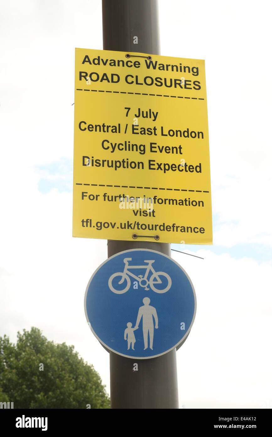 London, UK. 07th July, 2014. A road sign on Stratford High Street. Credit:  Credit:  david mbiyu/Alamy Live News - Stock Image
