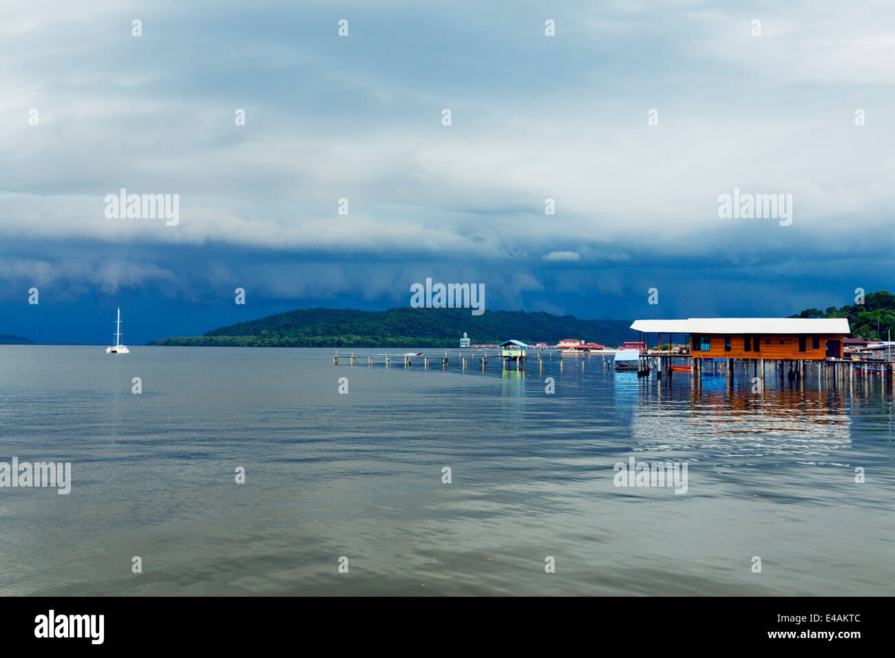 South East Asia, Kingdom of Brunei, Kampung Ayer water village - Stock Image