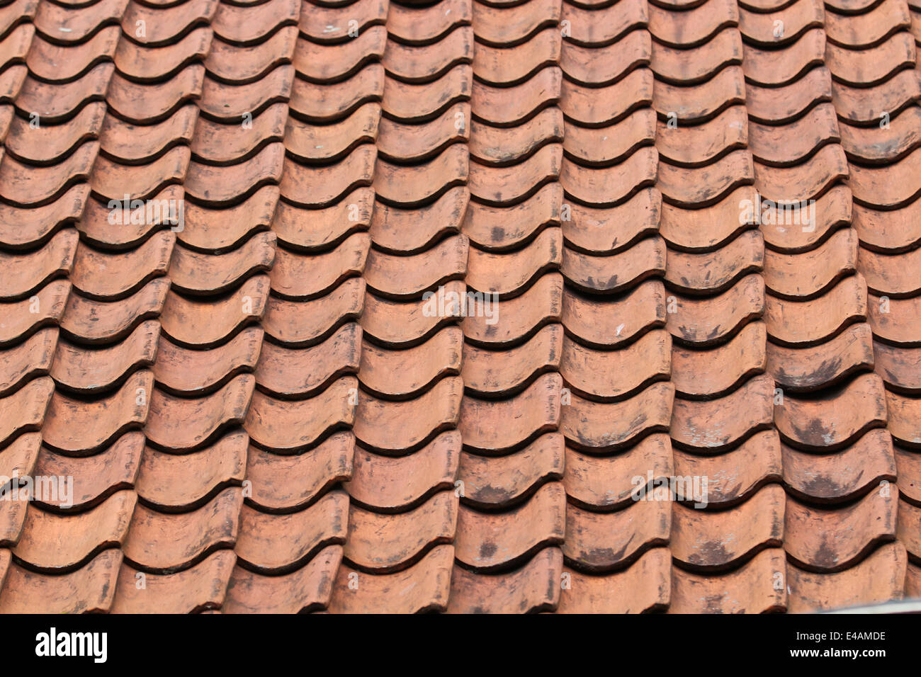 Close up clay roof Stock Photo