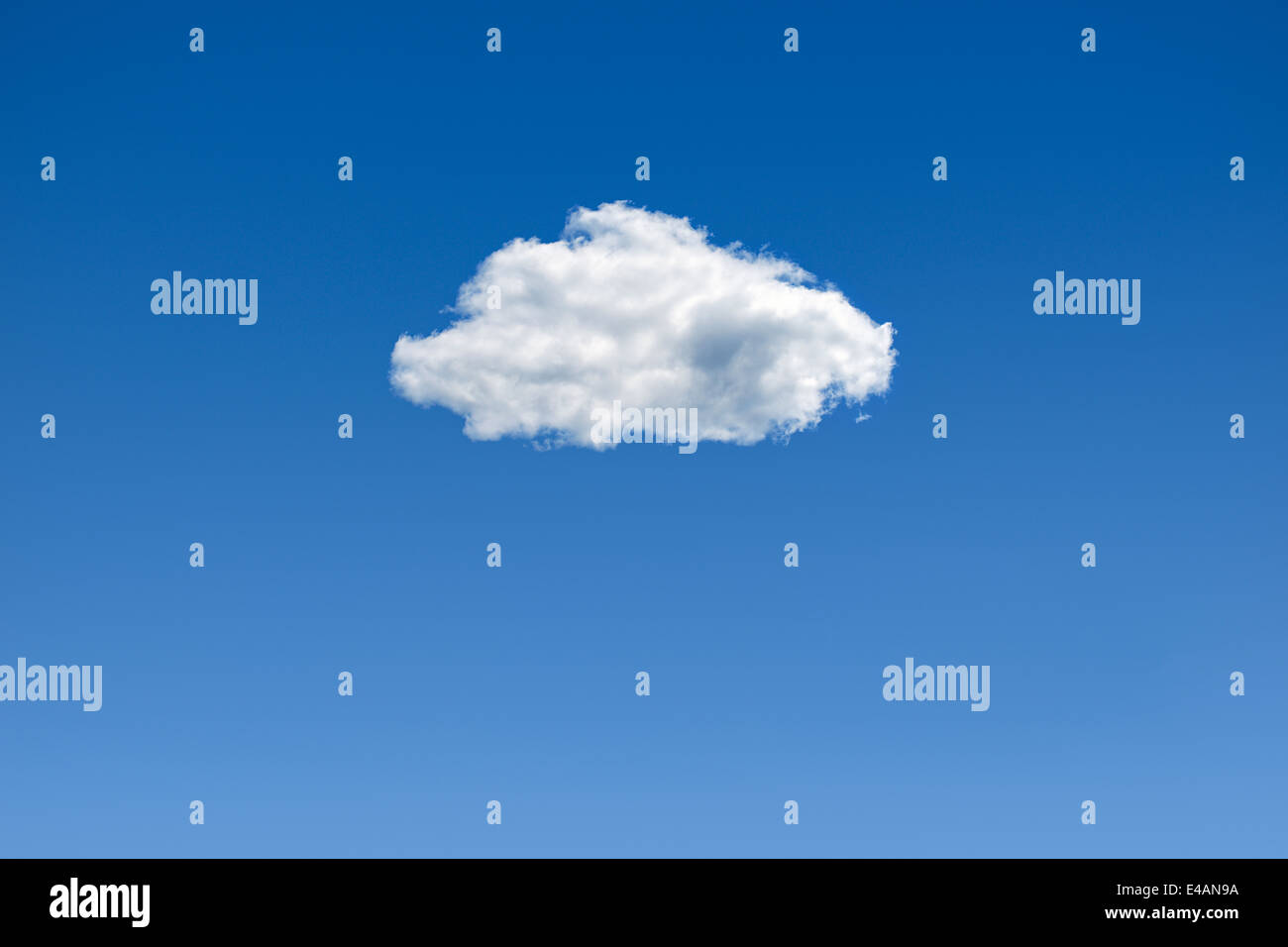 Cloud in a Blue Sky. - Stock Image