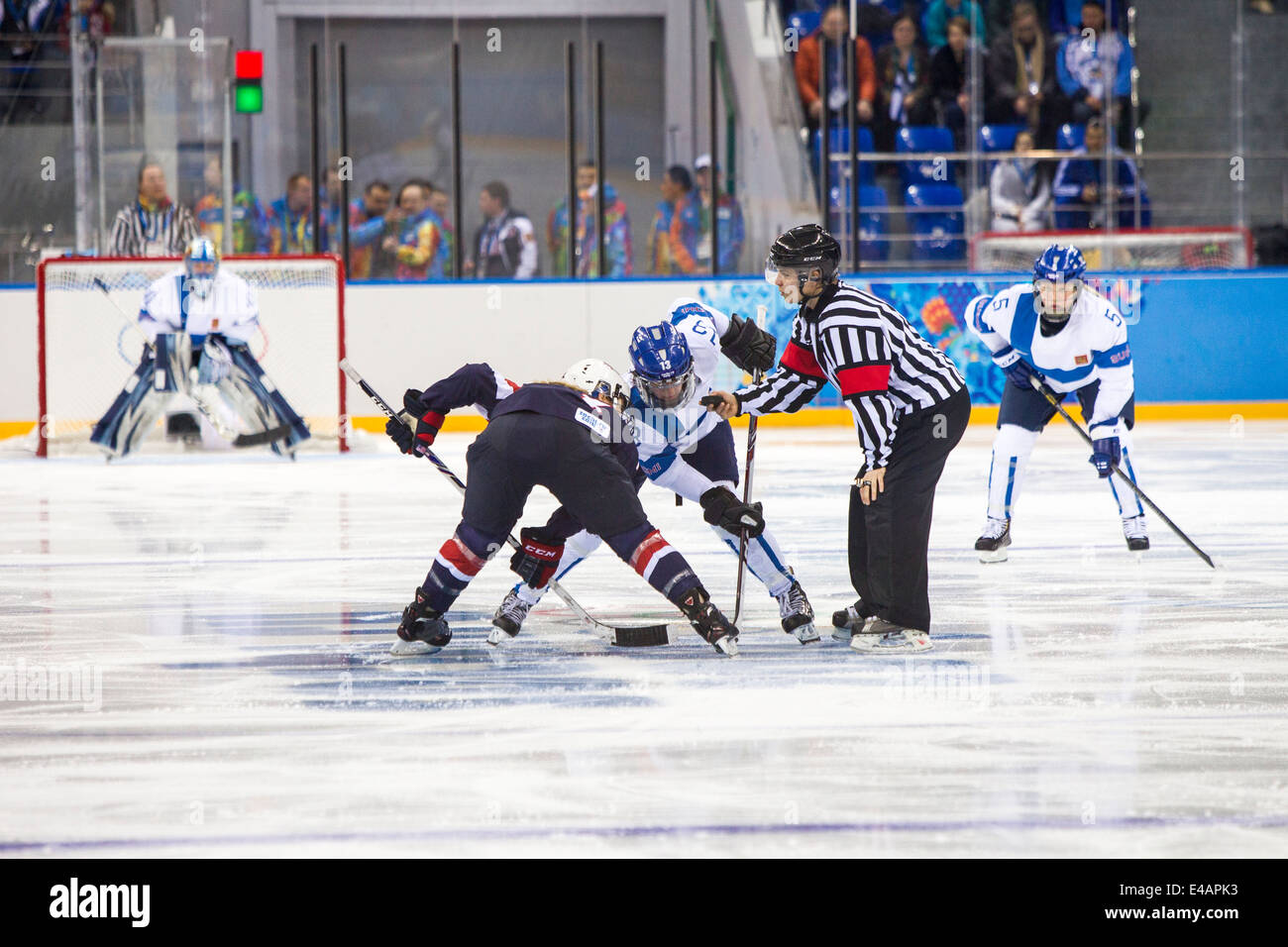 Women's Ice Hockey-USA-FIN at the Olympic Winter Games, Sochi 2014 - Stock Image