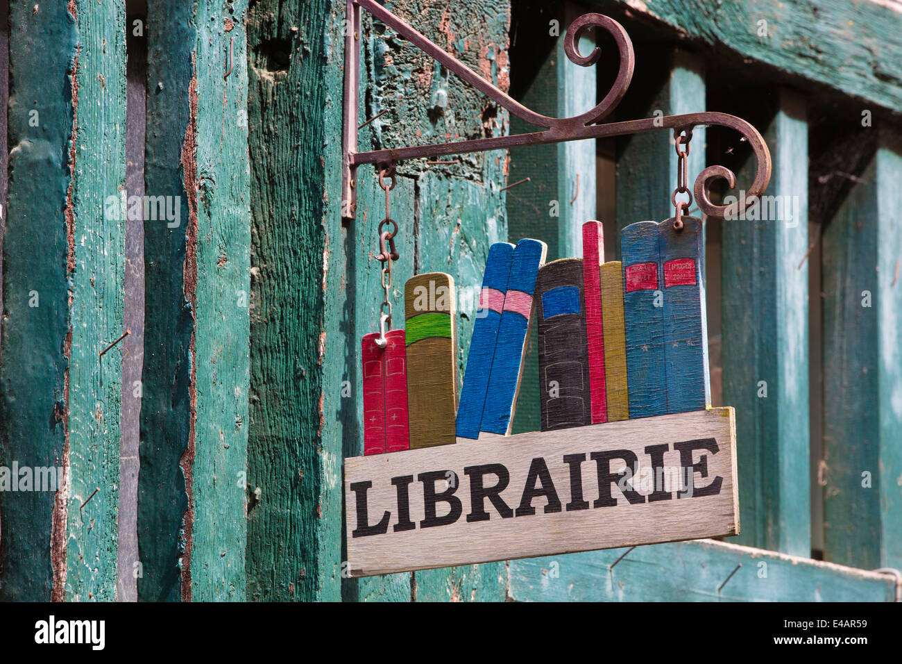 Librairie in the Village de la Boucherie, Limoges, Haute-Vienne, Limousin region, West-Central France, Europe - Stock Image