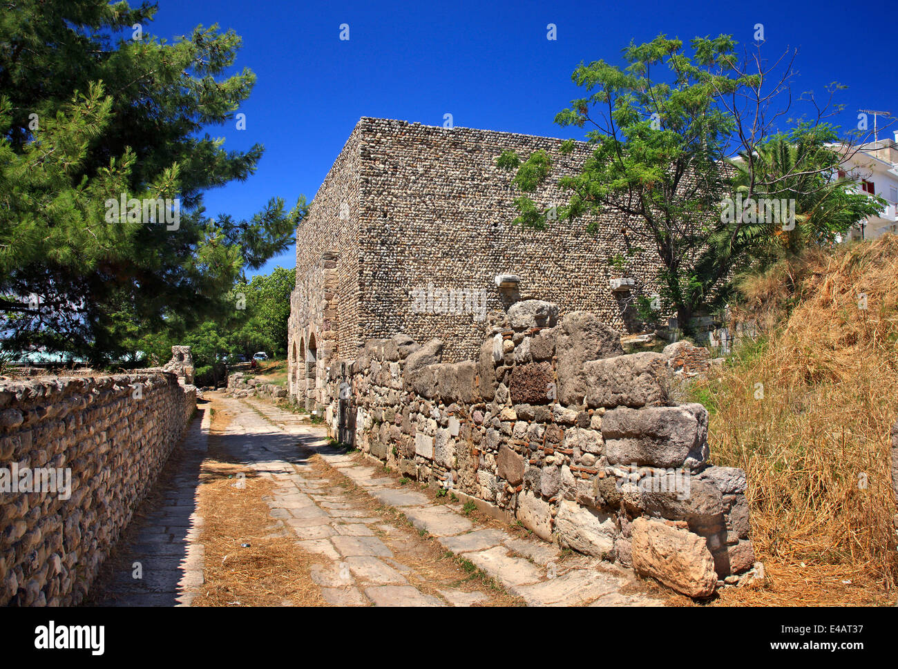 The Nymphaion (Nymphaeum) at the Western Archaeological site of Kos town, Kos island, Dodecanese, Aegean sea, Greece. - Stock Image