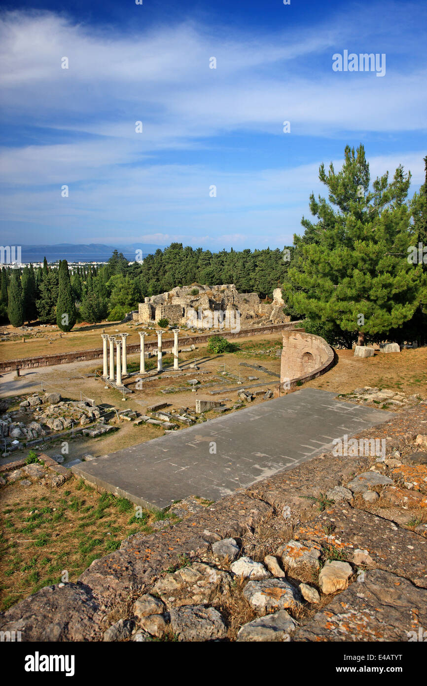 At the archaeological site of the Asklepieion, Kos island, Dodecanese, Aegean sea, Greece. - Stock Image