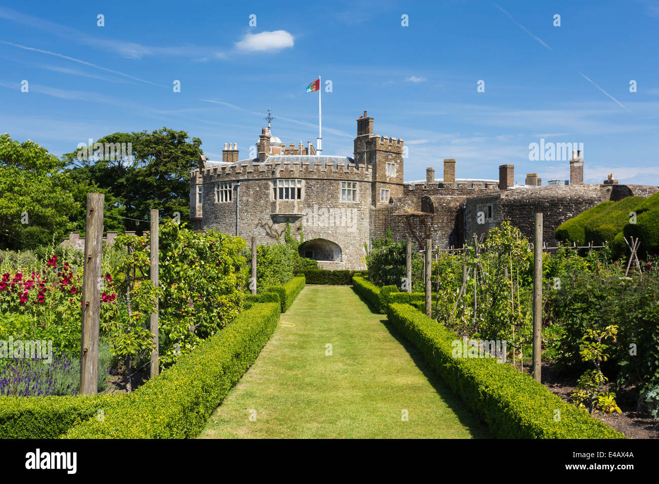 Kitchen Garden Walmer Castle Official Residence of the Lord Warden of the Cinque Ports - Stock Image