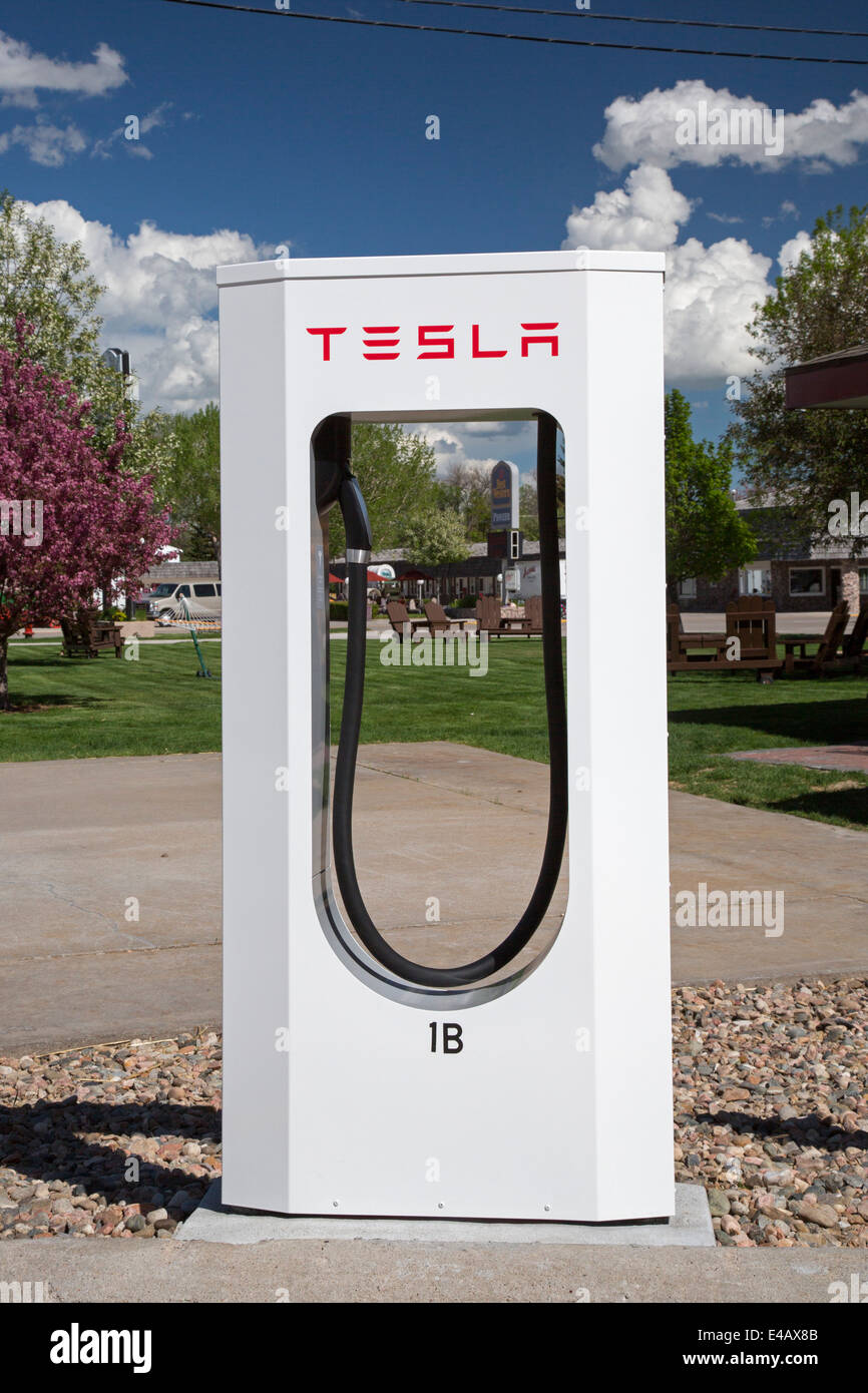 Charger for Tesla Electric Cars - Stock Image