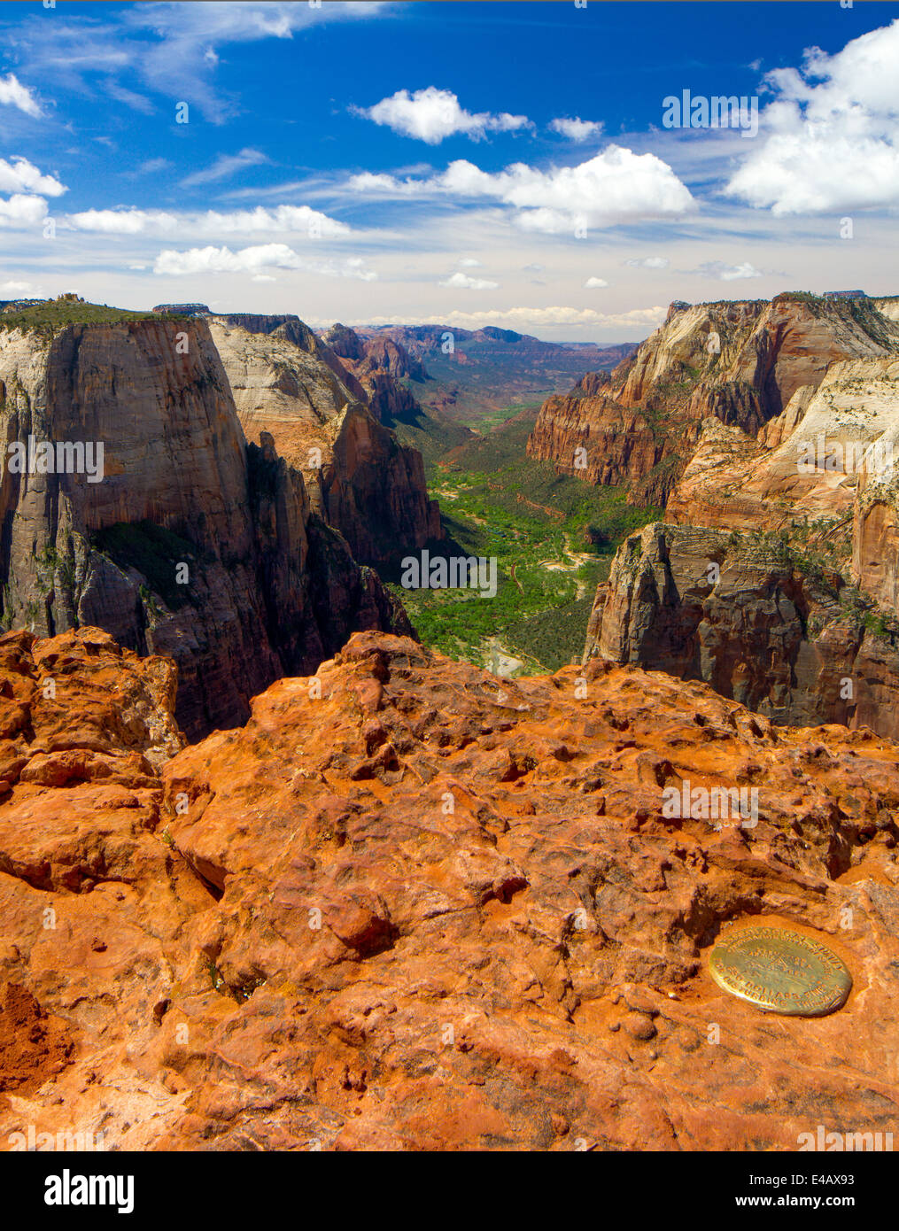 View from Observation Point, Zion National Park, Utah - Stock Image
