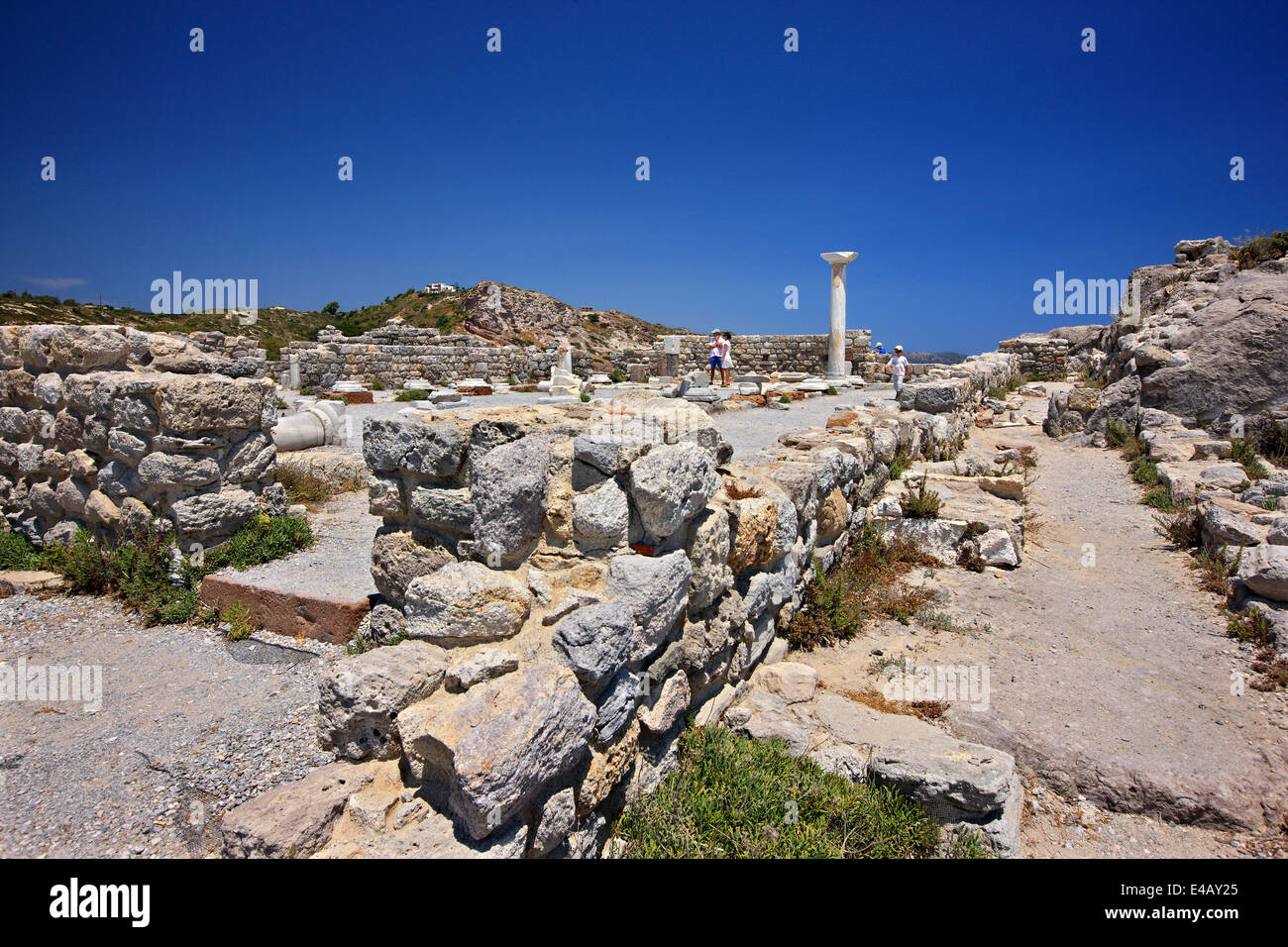 Ruins of an Early Christian Basilica at Agios Stephanos, Kefalos bay, Kos island, Dodecanese, Aegean sea, Greece. - Stock Image