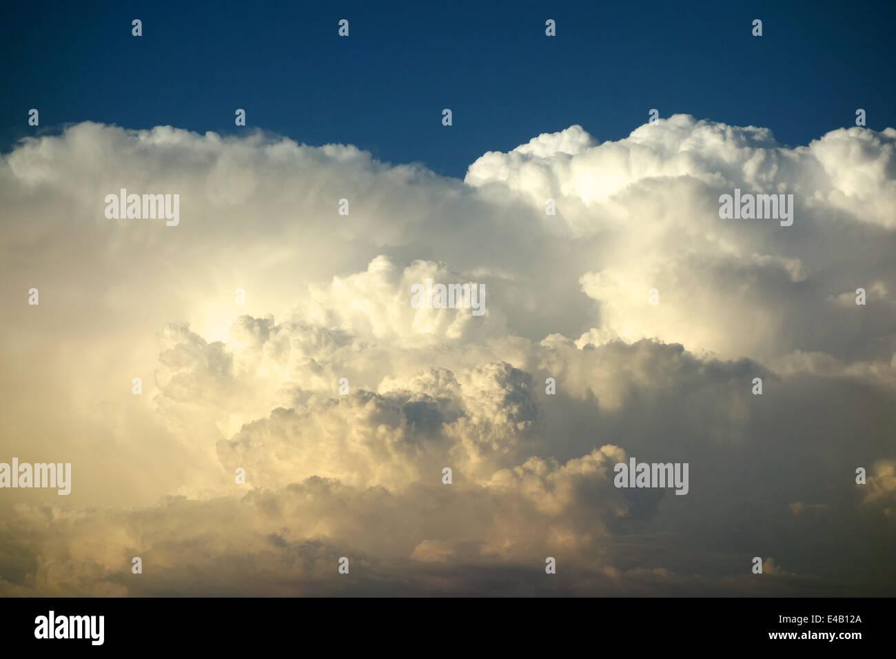 A towering Cumulonimbus cloud - Stock Image
