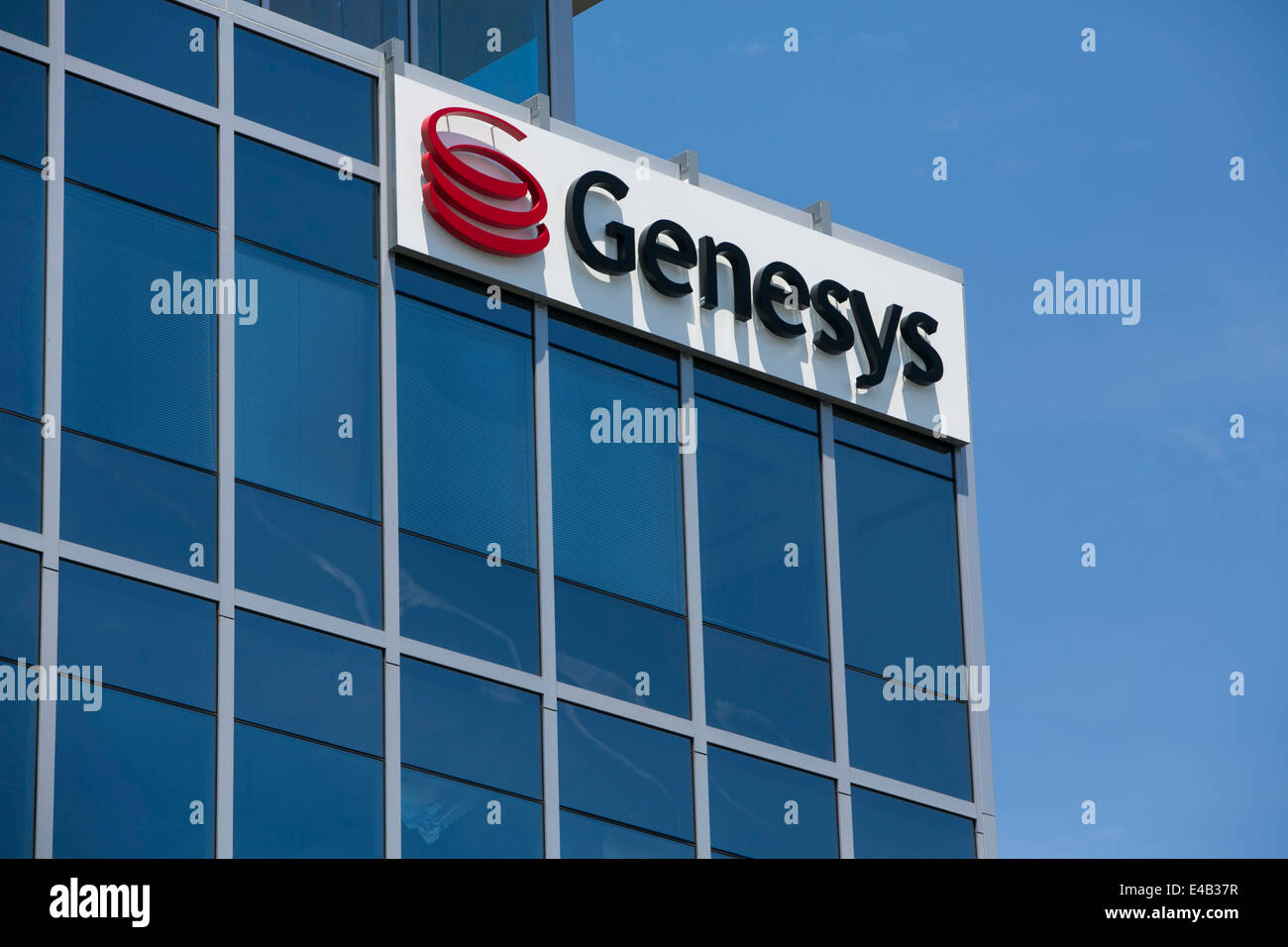 An office building occupied by the telecommunications technology company Genesys.  - Stock Image