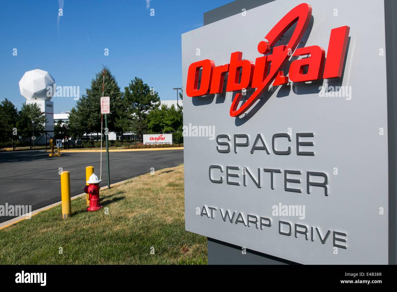 The headquarters of Orbital Sciences Corporation.  Stock Photo