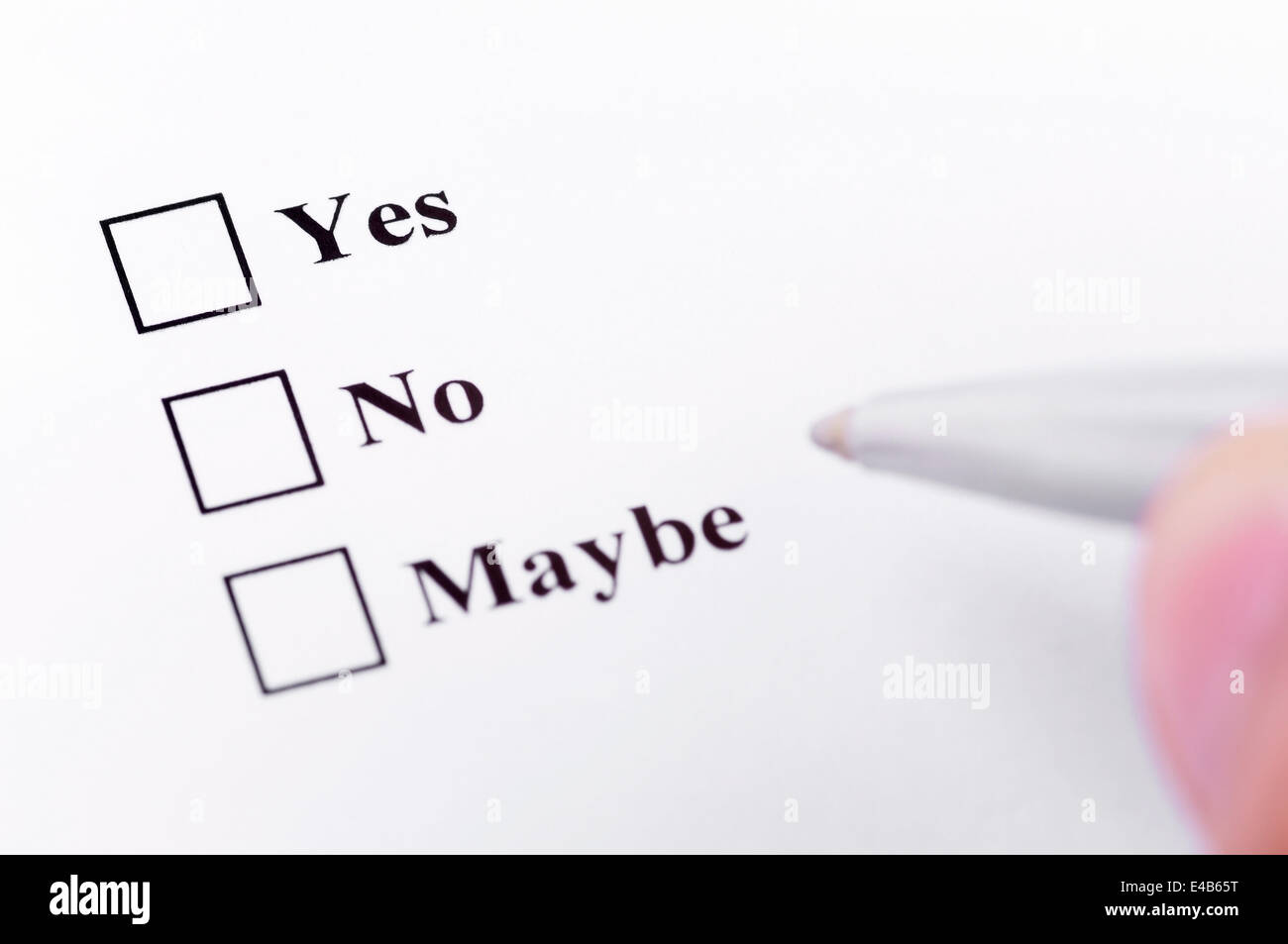 Yes, No, Maybe - Stock Image