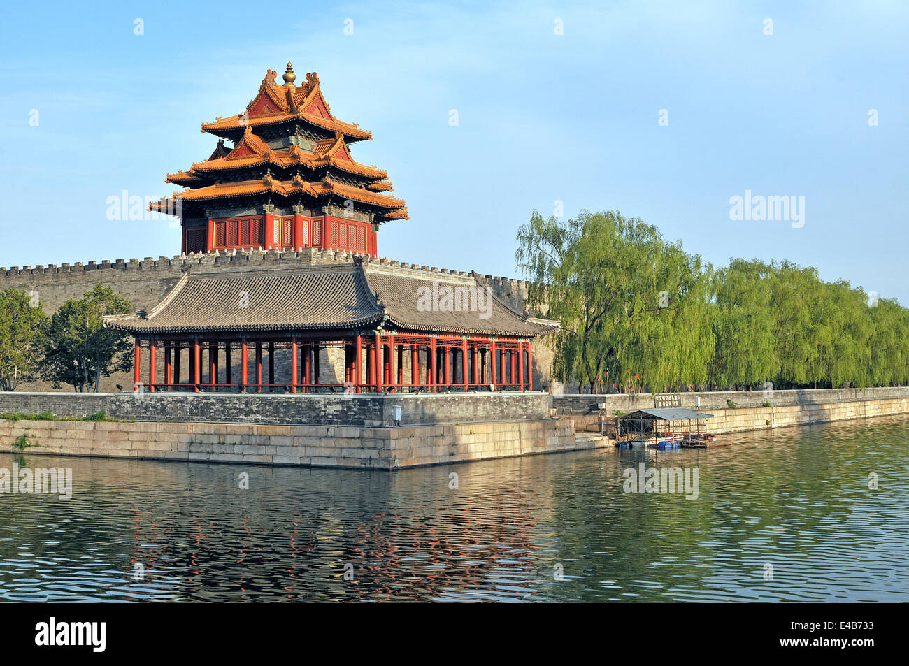 Guard Tower in the Forbidden City Beijing - Stock Image