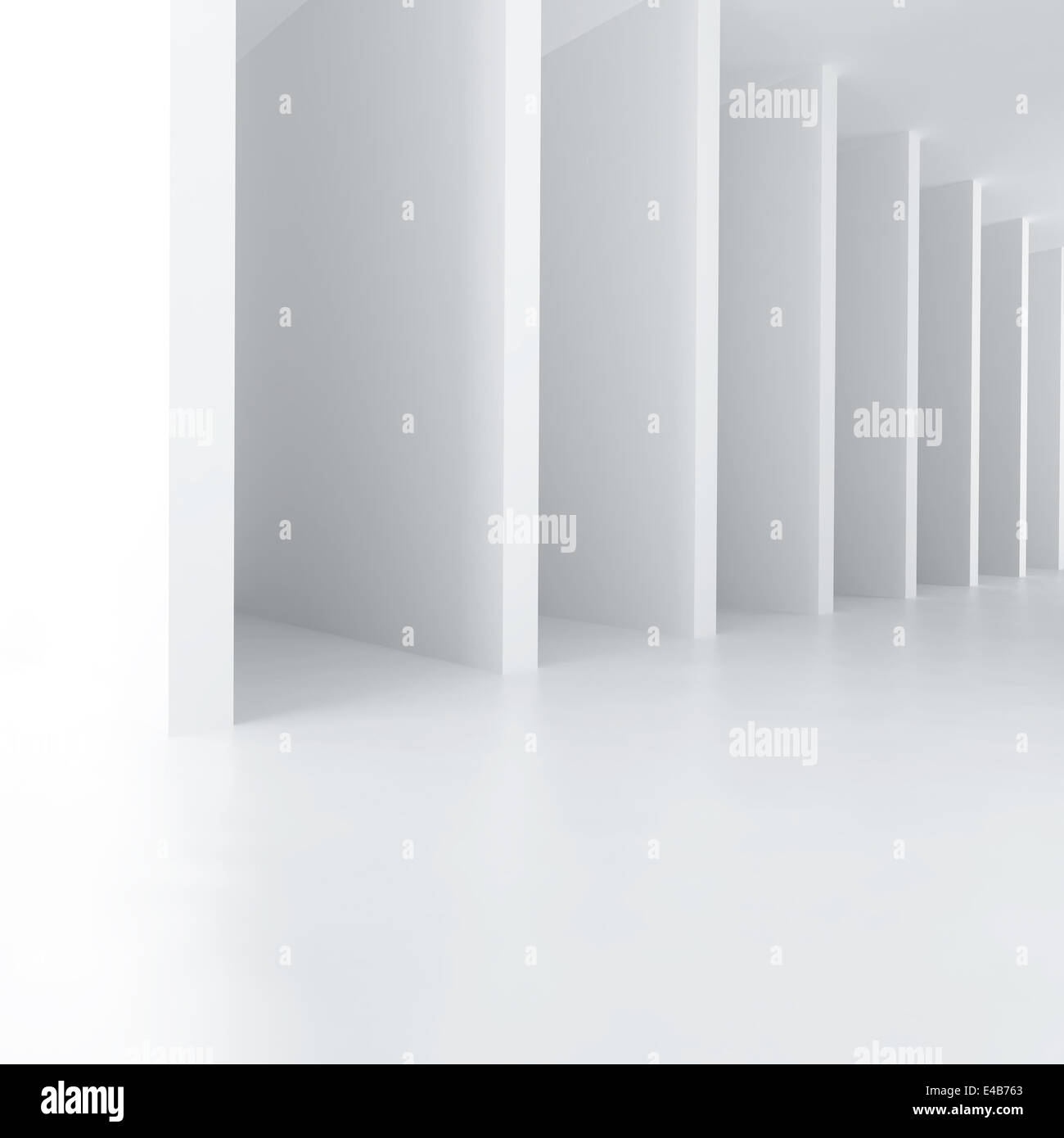 white abstract walls are get away far - Stock Image