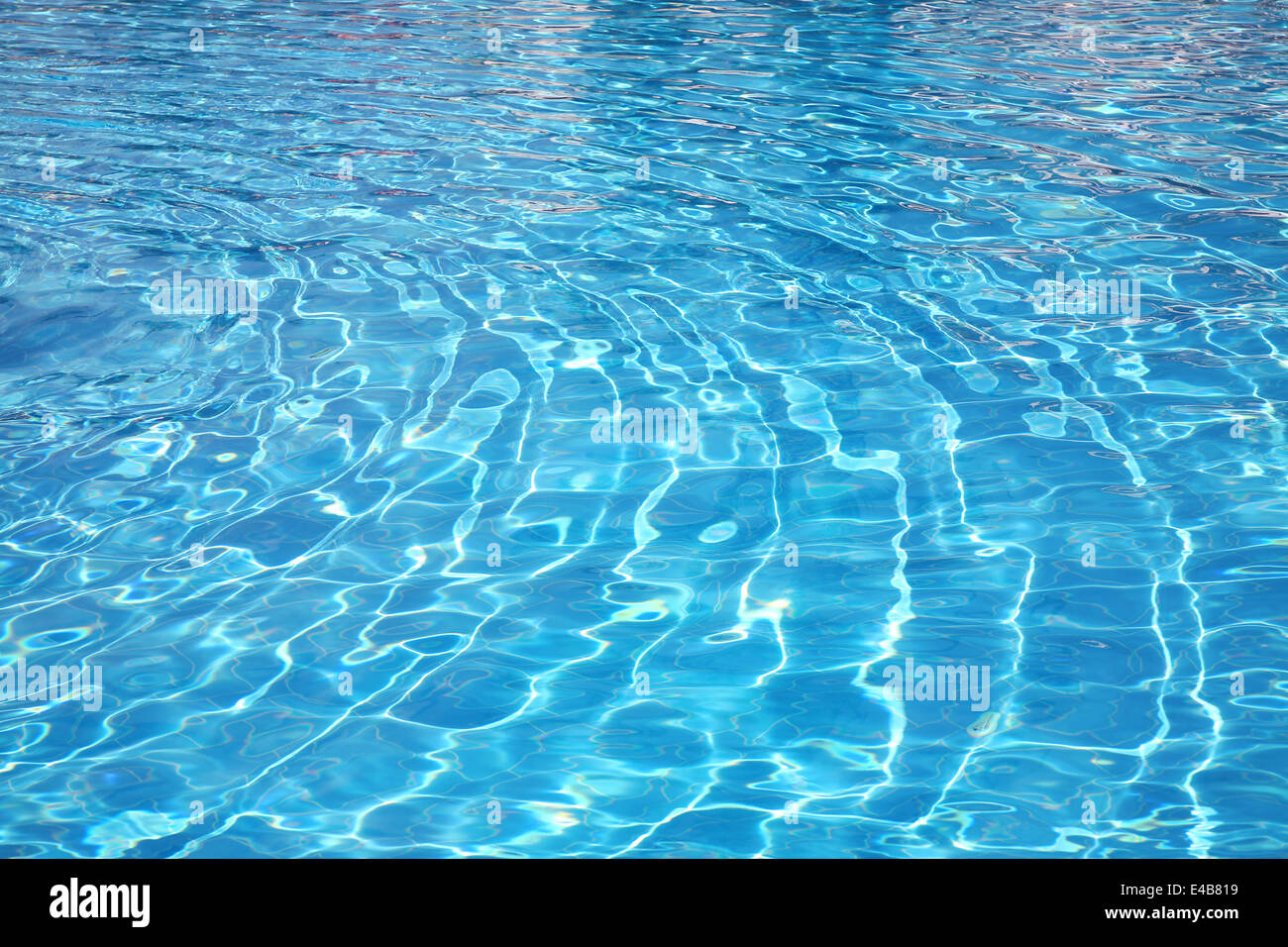 Pure blue transparent water - Stock Image