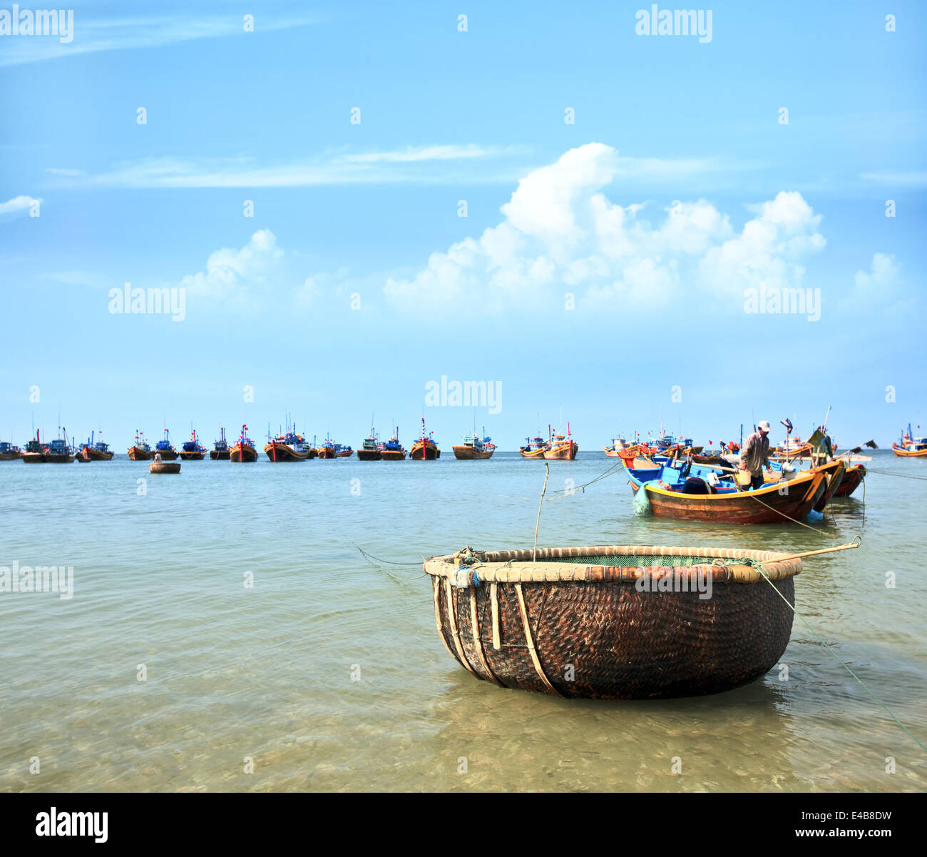 Mui Ne fishing village - Stock Image