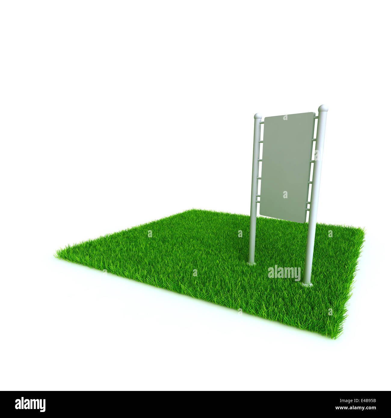 banner on a lawn from a green bright grass - Stock Image