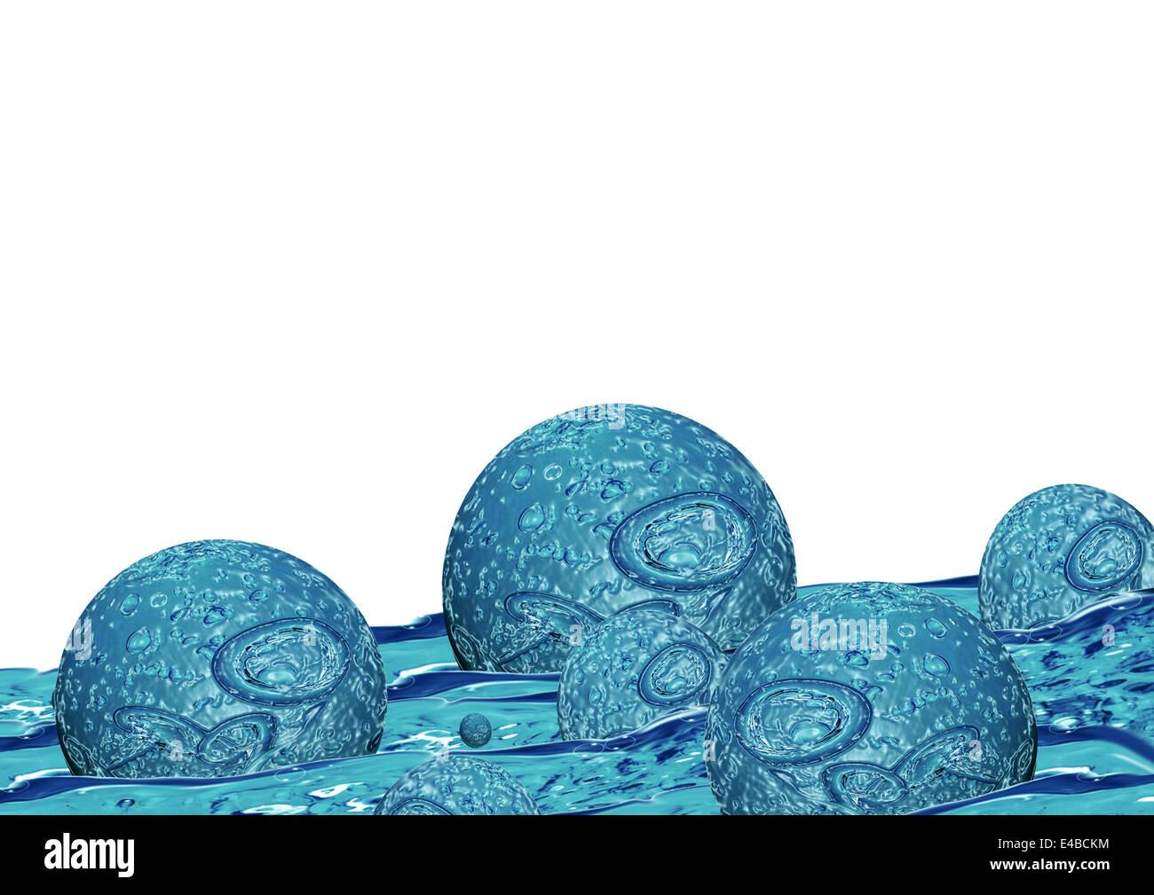water formula - Stock Image