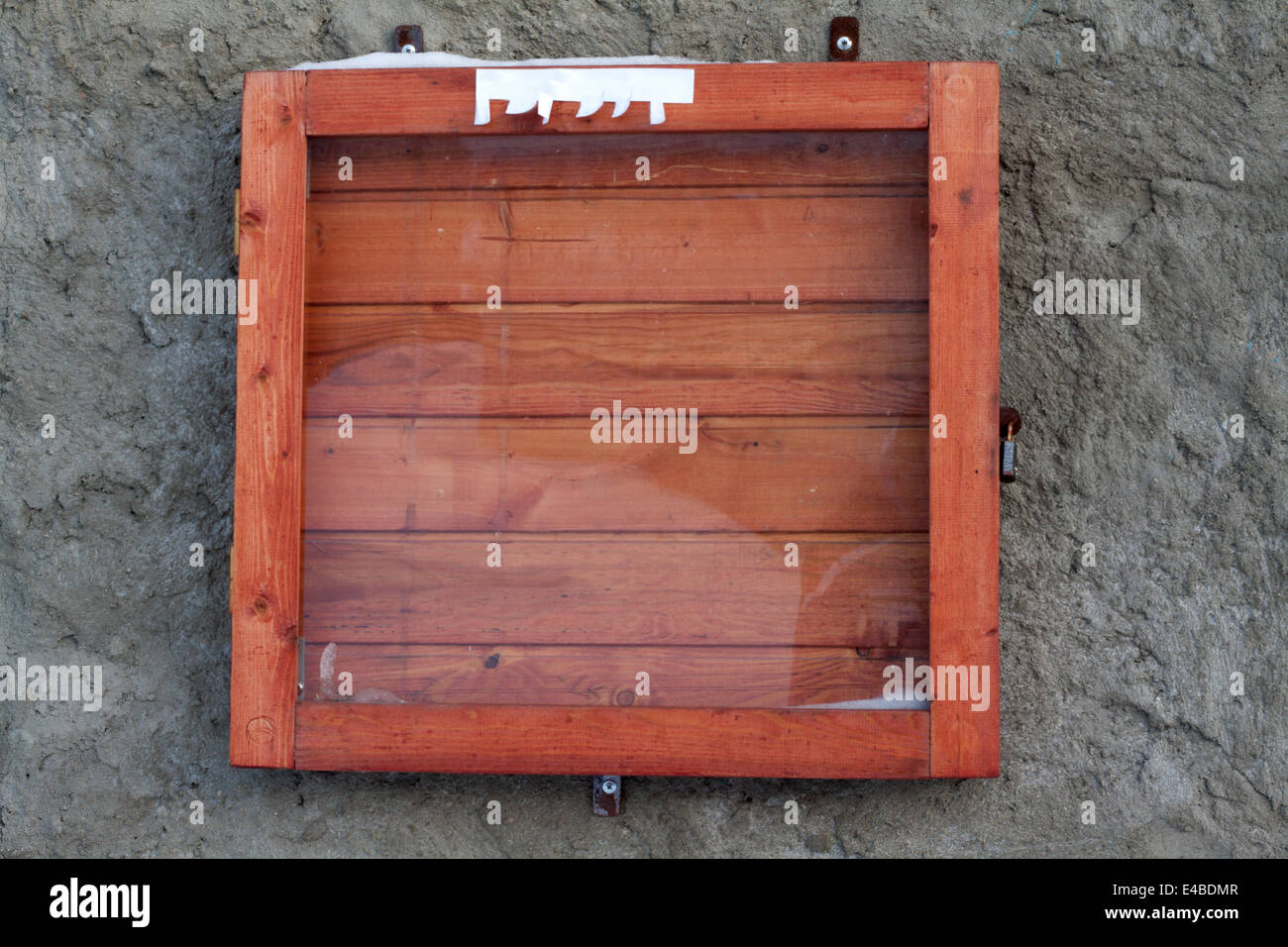 Wooden frame for announcements - Stock Image