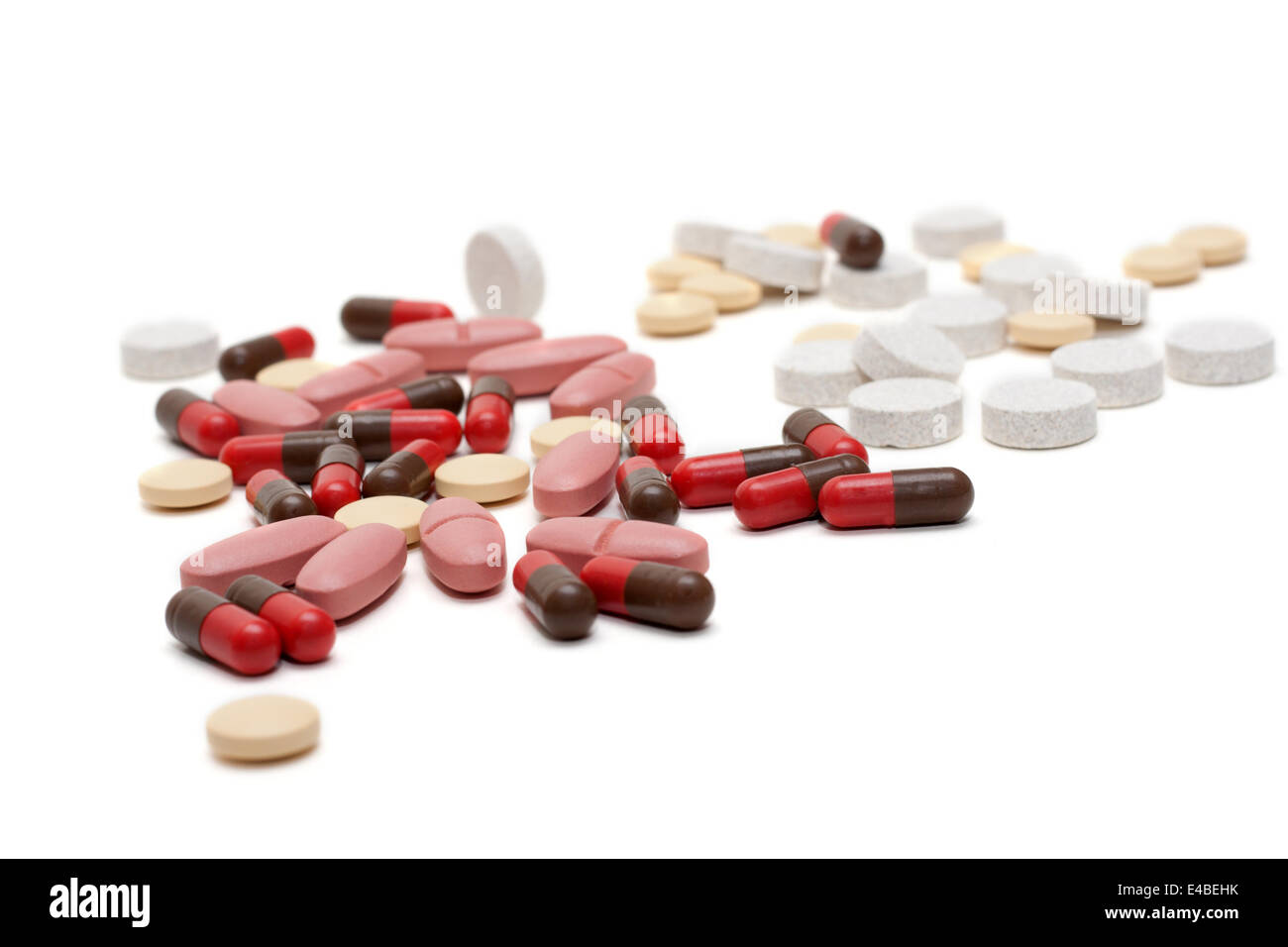 Disposit of the tablets, pill, capsules - Stock Image